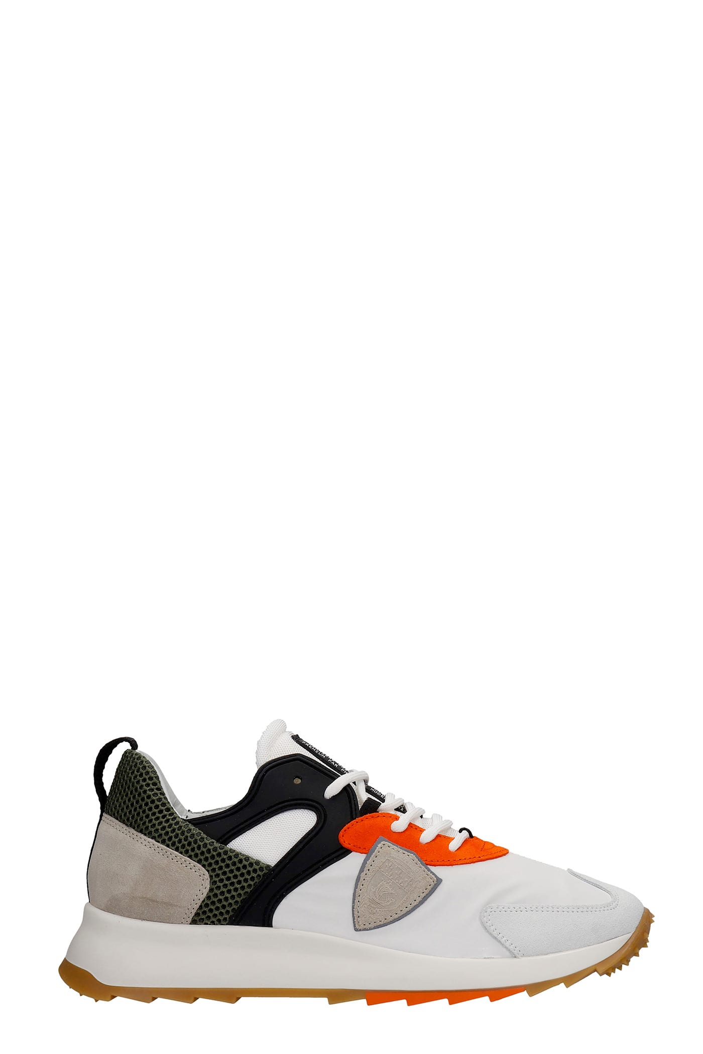 Philippe Model Leathers ROYALE SNEAKERS IN WHITE SYNTHETIC FIBERS