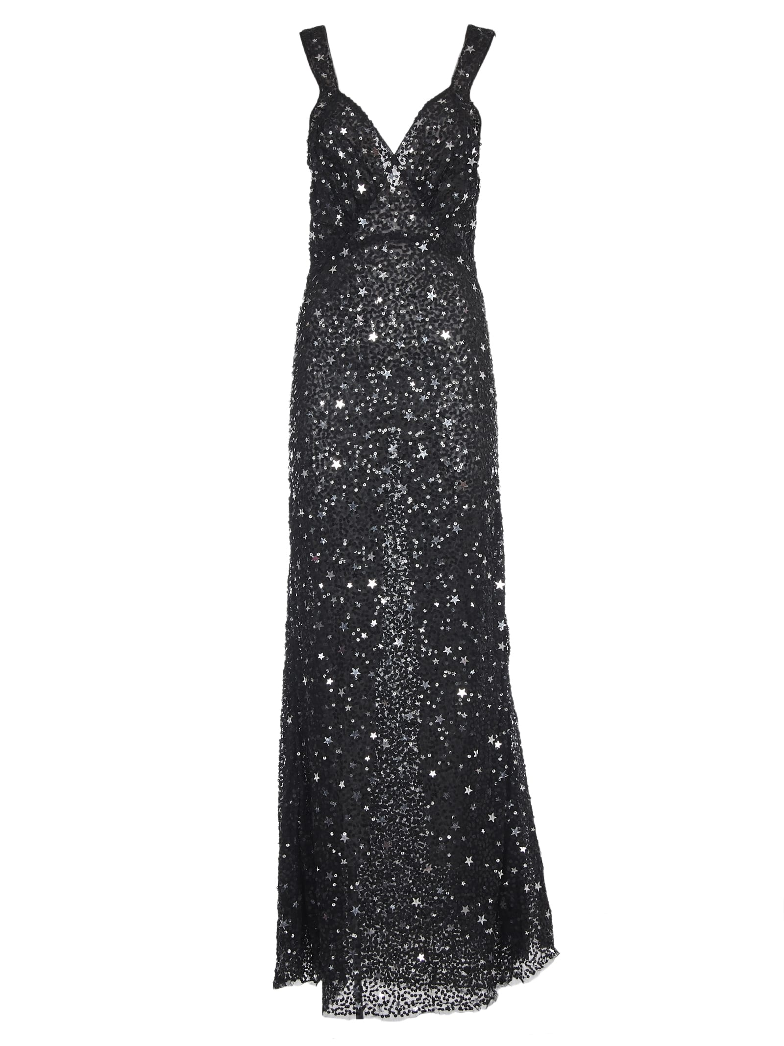 Attico Attico Star Sequin Dress Black 10899150 Italist