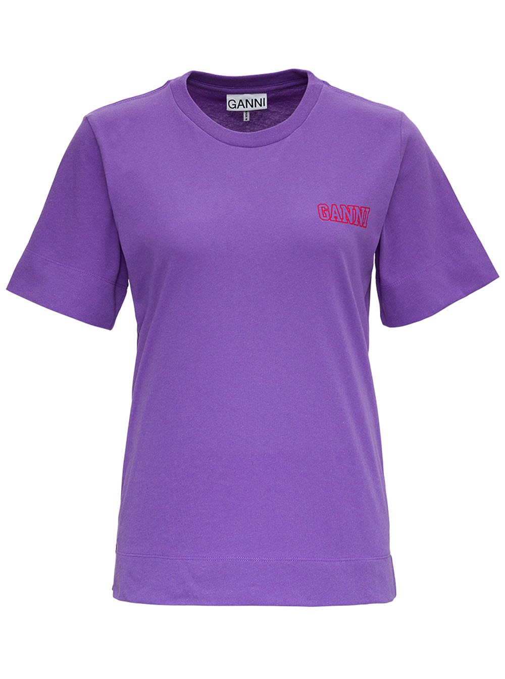 Ganni Thin Software Recycled Jersey T-shirt In Violet