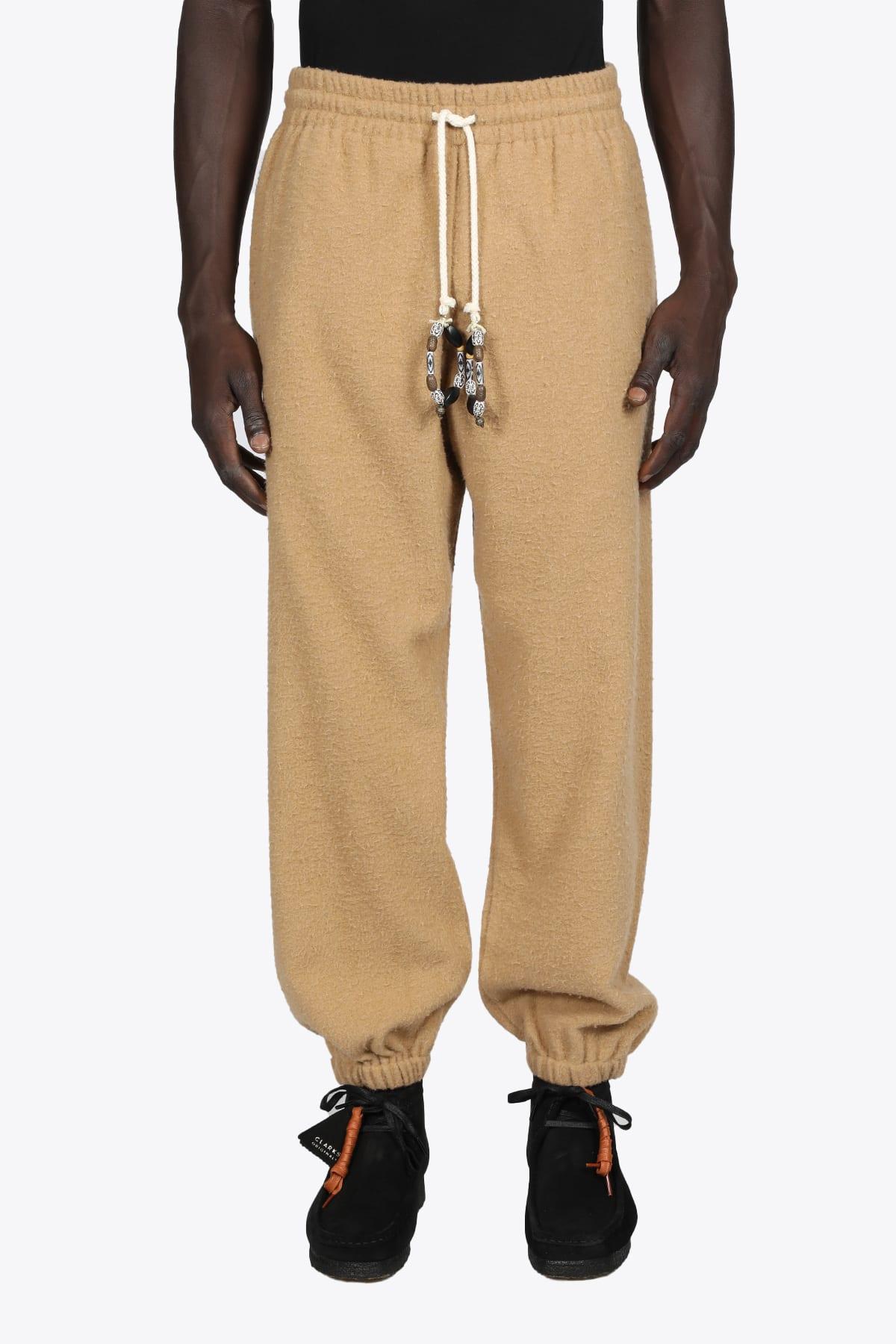 Camel Wool Jogger Pants