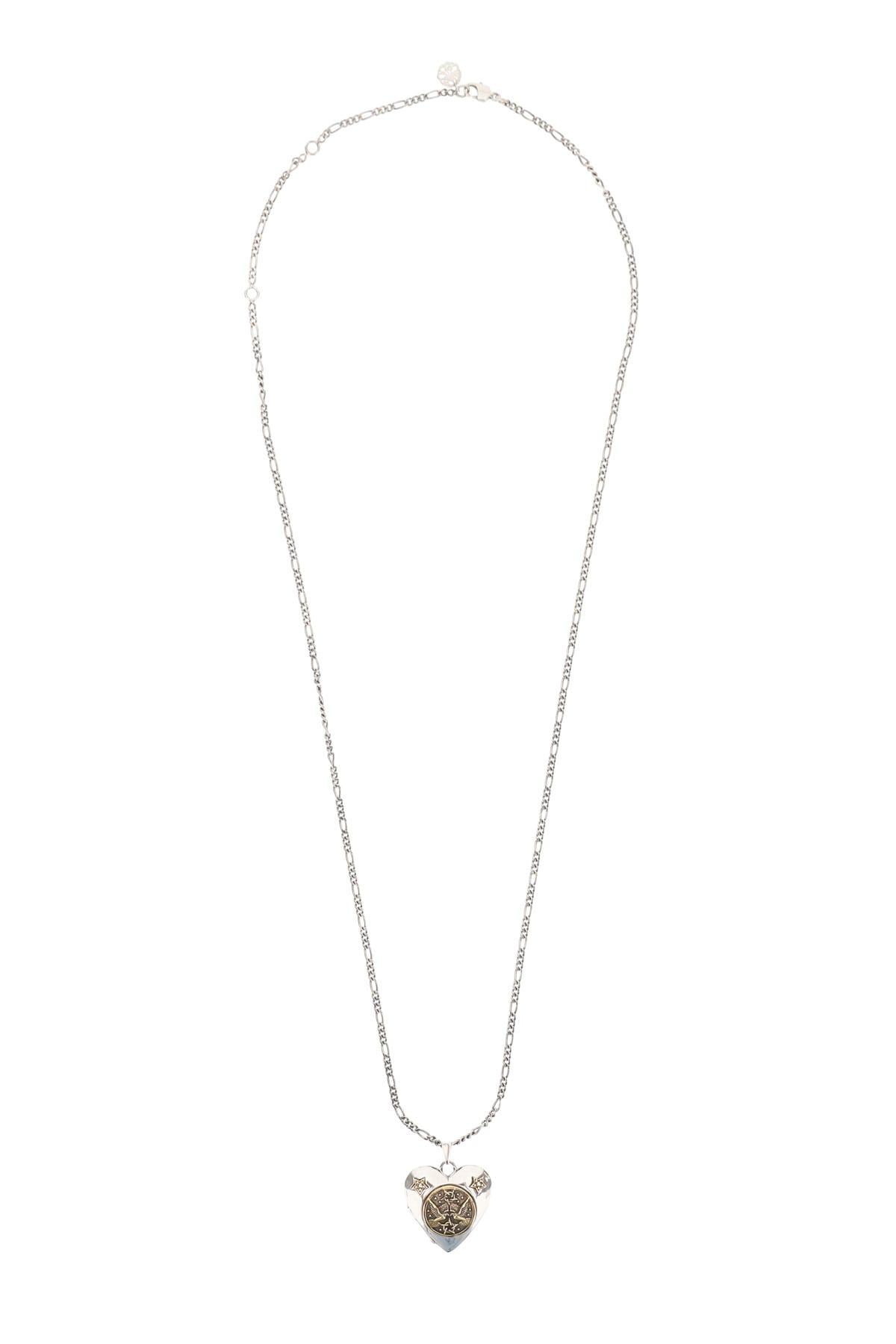 Alexander McQueen Long Necklace Heart With Emblem