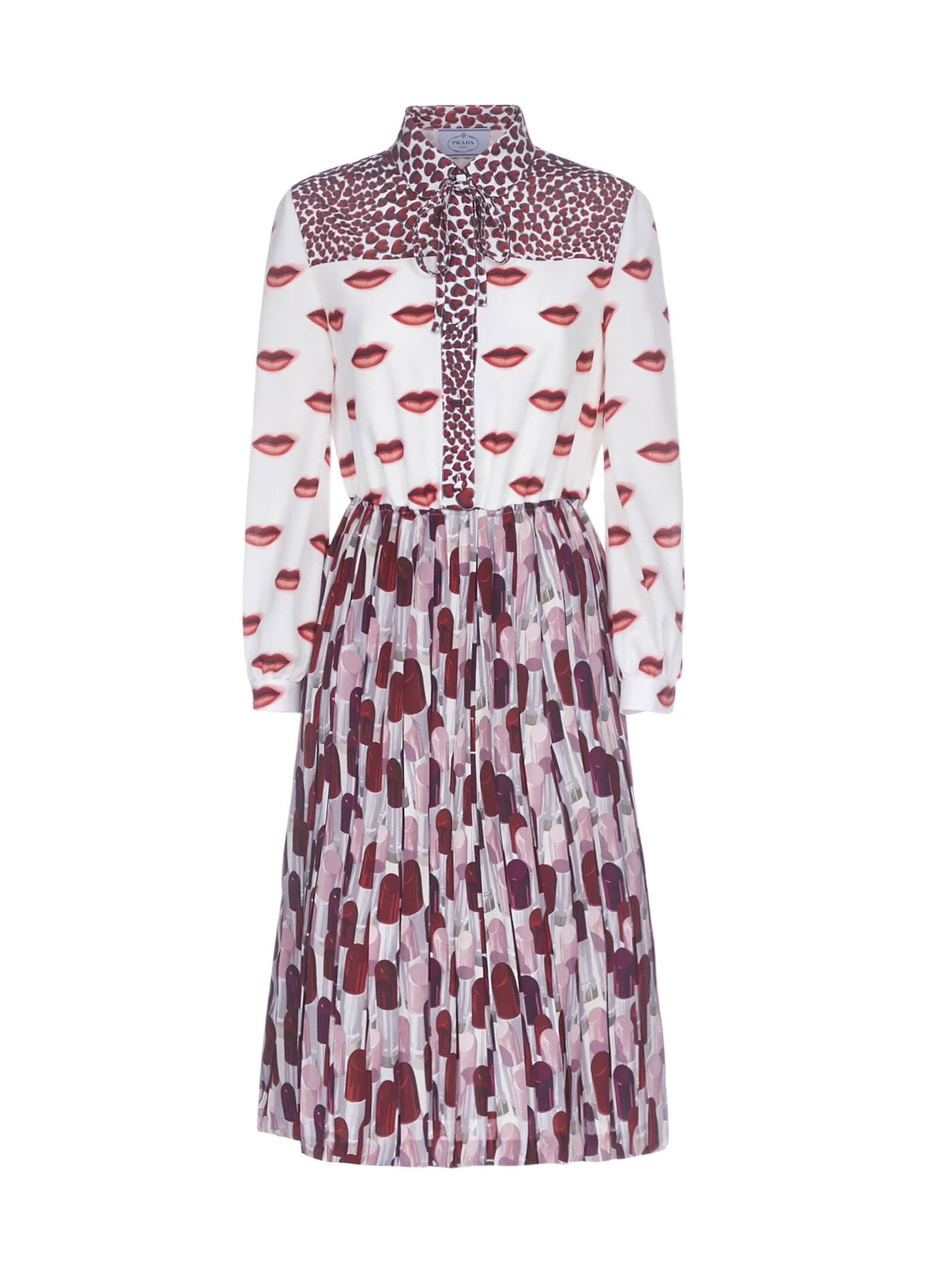 Buy Prada Lipstick Bocca Cuore Dress online, shop Prada with free shipping