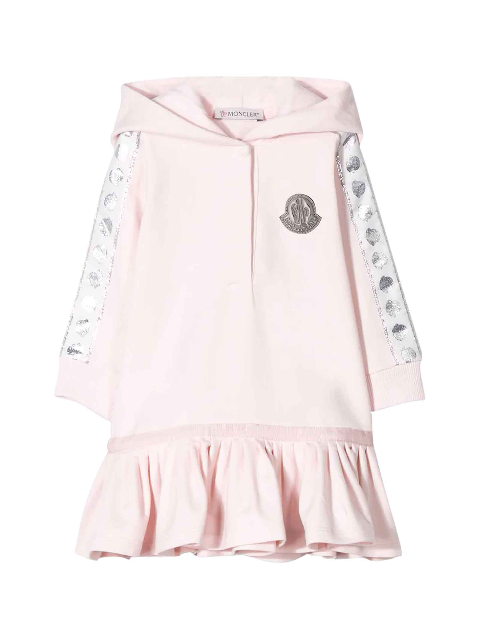 Buy Pink Dress Baby online, shop Moncler with free shipping