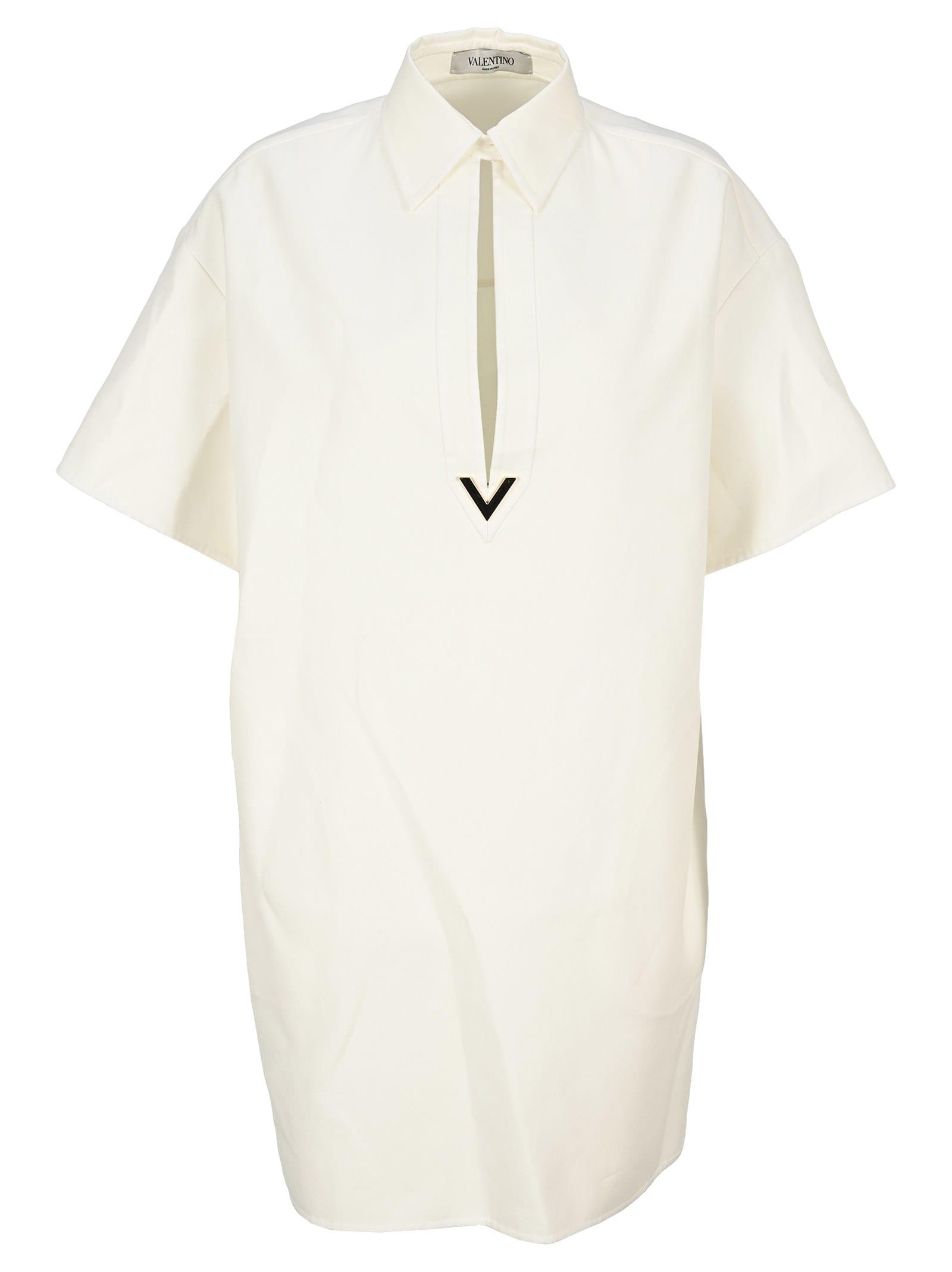 Valentino Vgold Double Splittable Gabardine Long Shirt