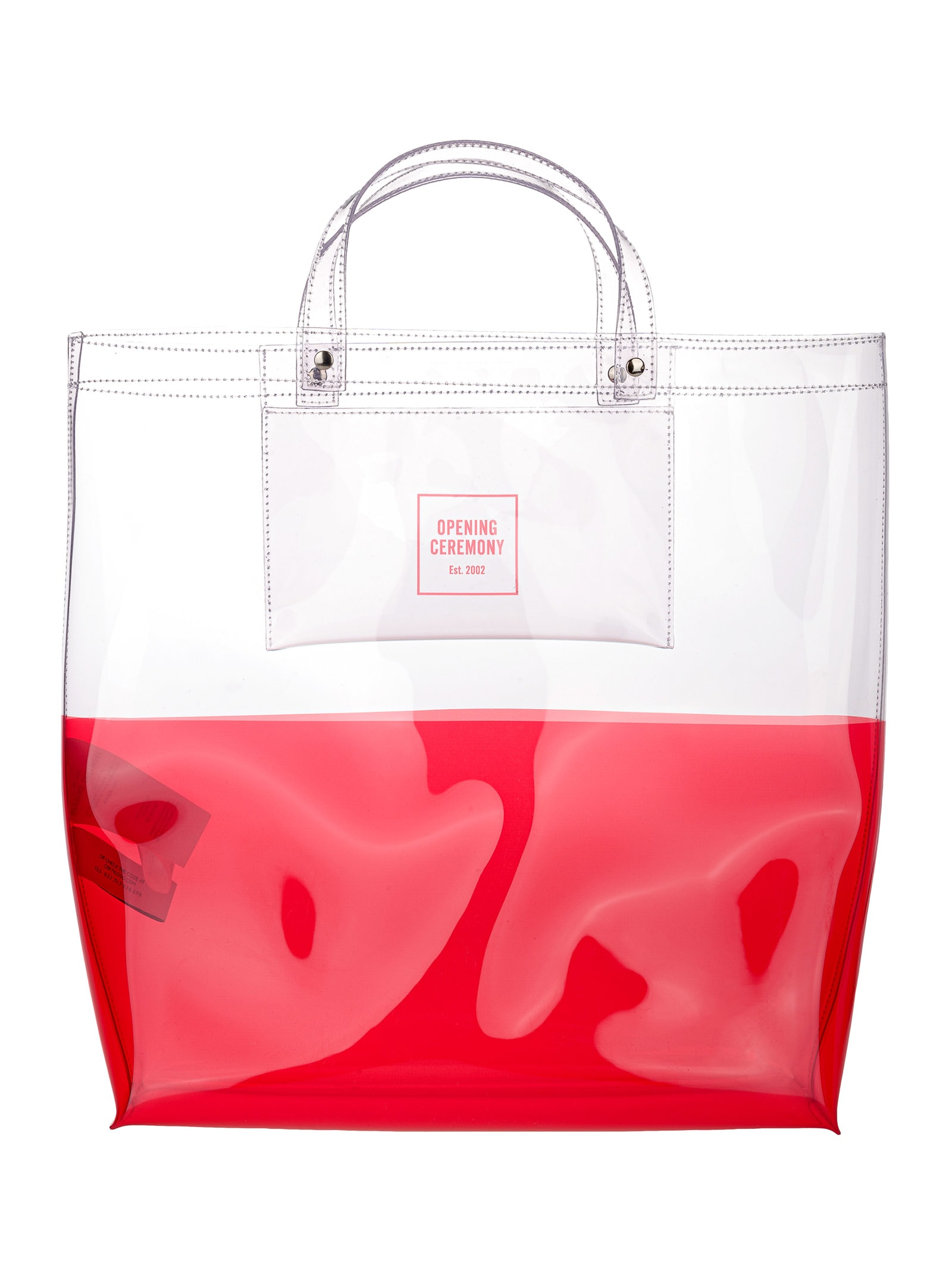 Opening Ceremony PANELLED BOX-LOGO LARGE TOTE BAG
