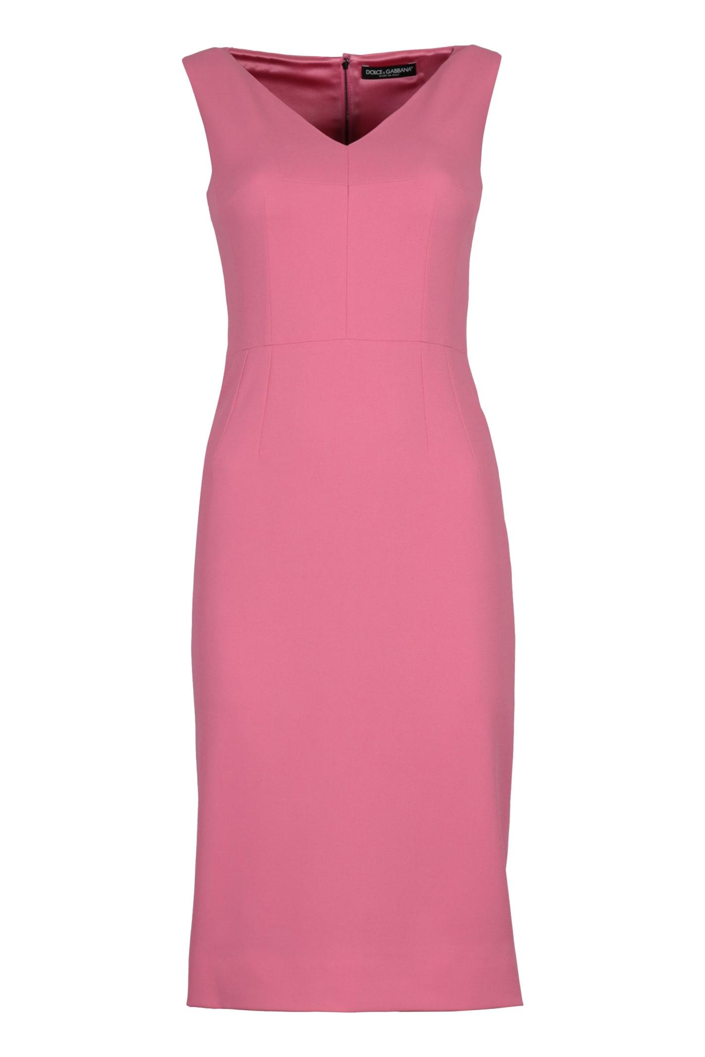 Buy Dolce & Gabbana Crepe Sheath Dress online, shop Dolce & Gabbana with free shipping
