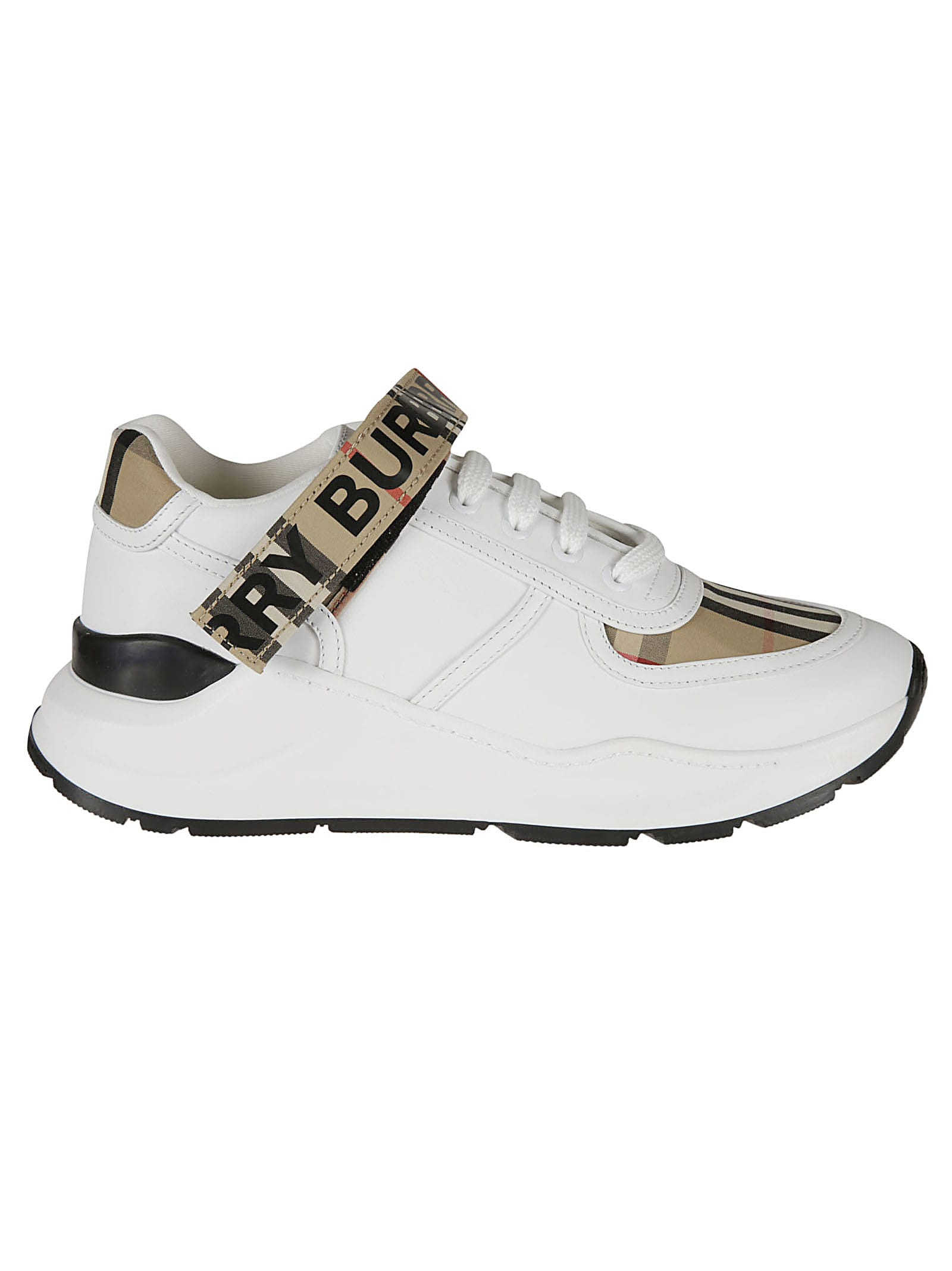 BURBERRY RONNIE LOW CHECK SNEAKERS