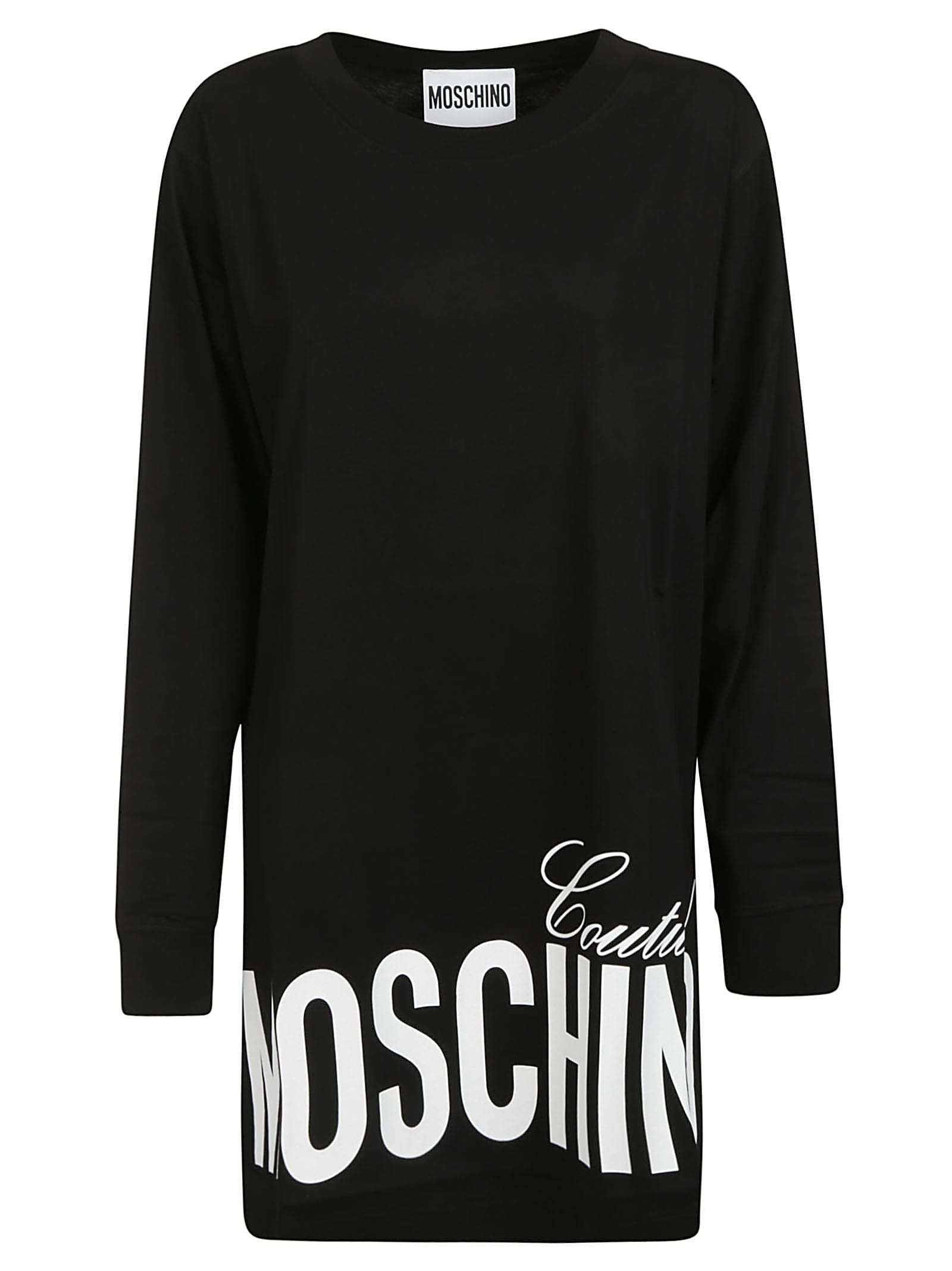 Buy Moschino Bottom Logo Print Dress online, shop Moschino with free shipping