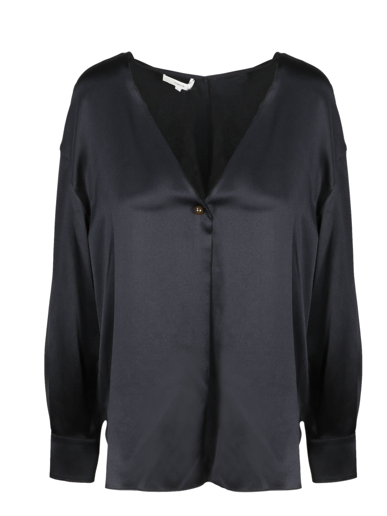Vince V-neck Ball Button Blouse