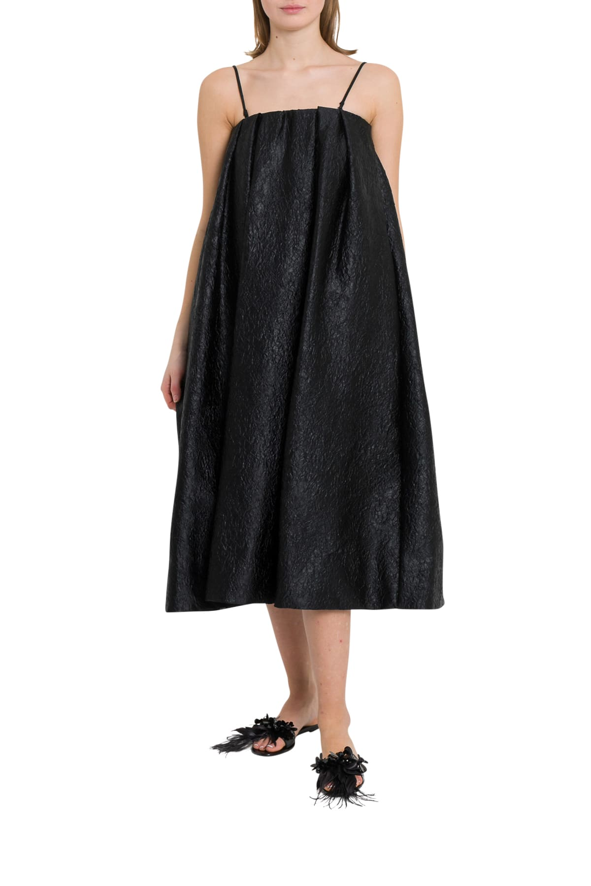 Simone Rocha A-line Dress In Brocade Fabric