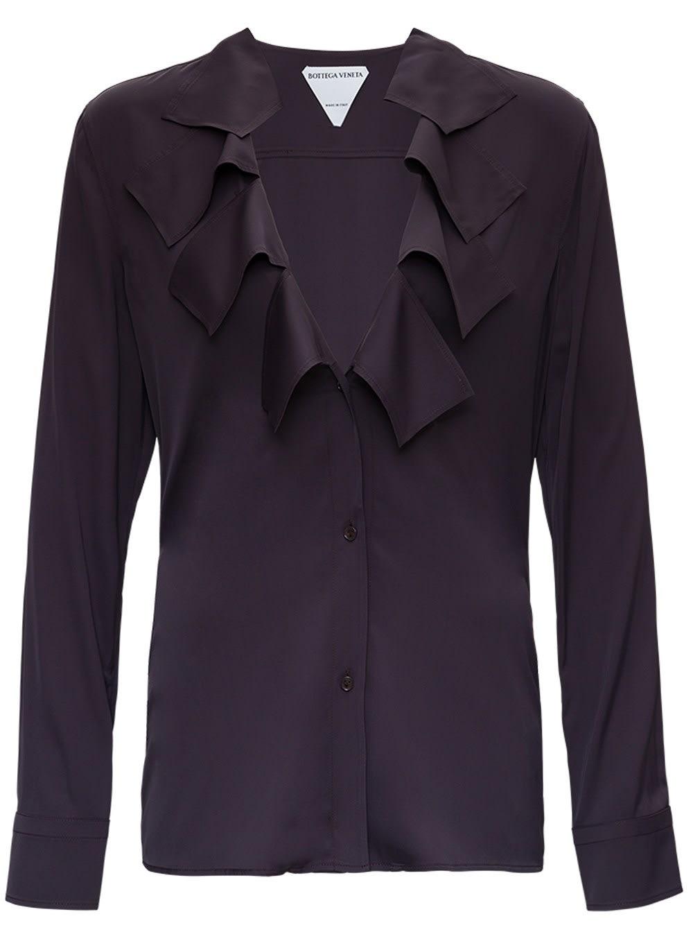 Bottega Veneta Shirts STRETCH VISCOSE SHIRT WITH RUFFLES