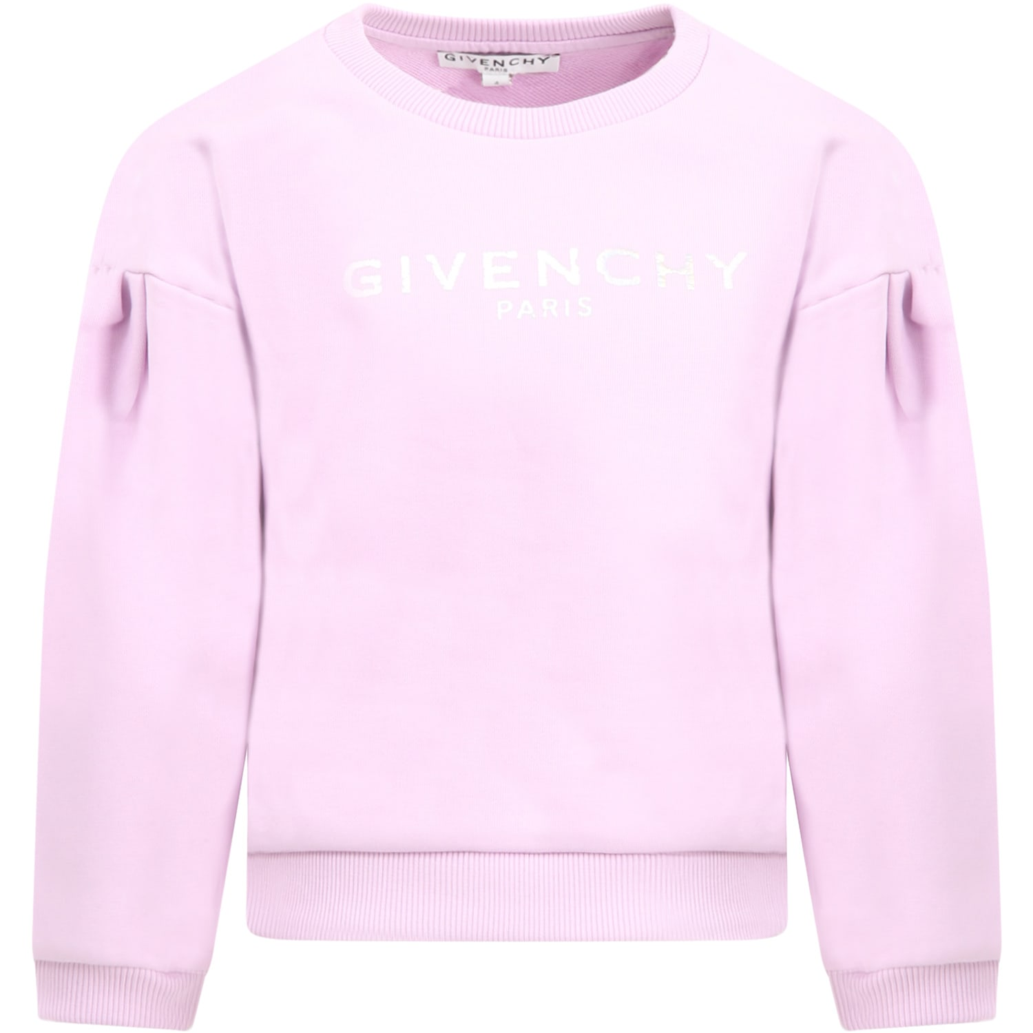 Givenchy LILAC SWEATSHIRT FOR GIRL WITH LOGO