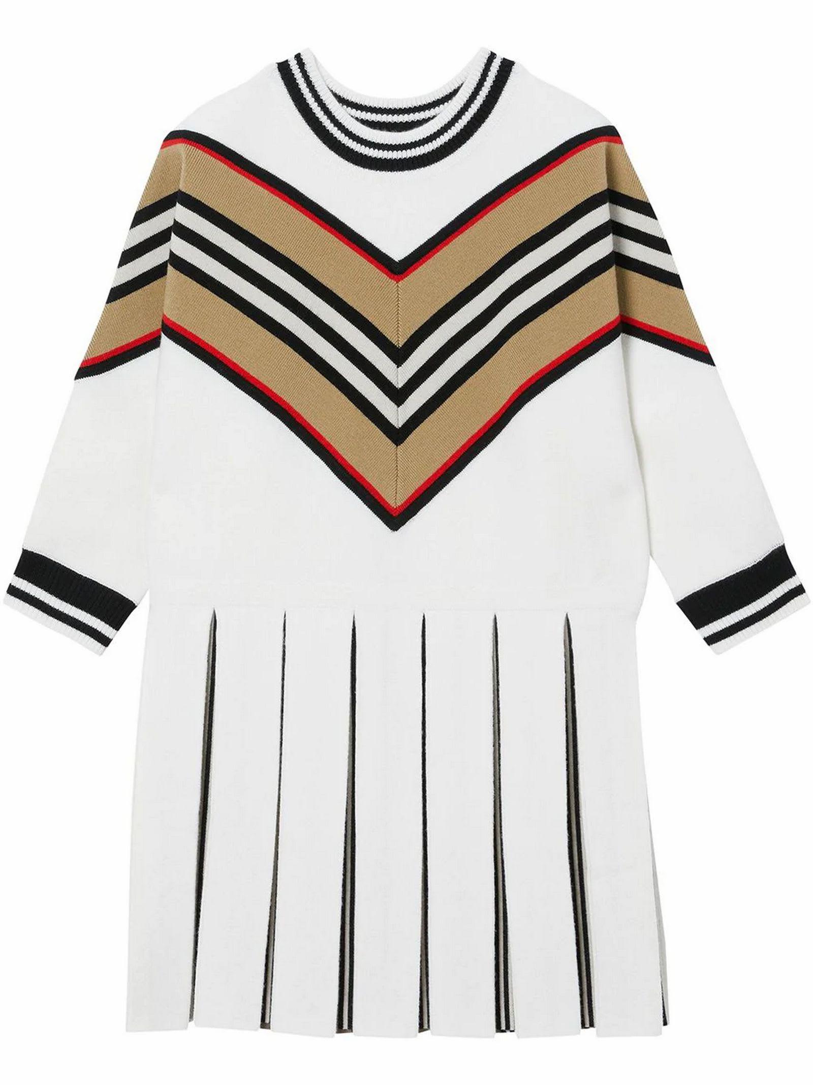 Burberry White Wool Dress