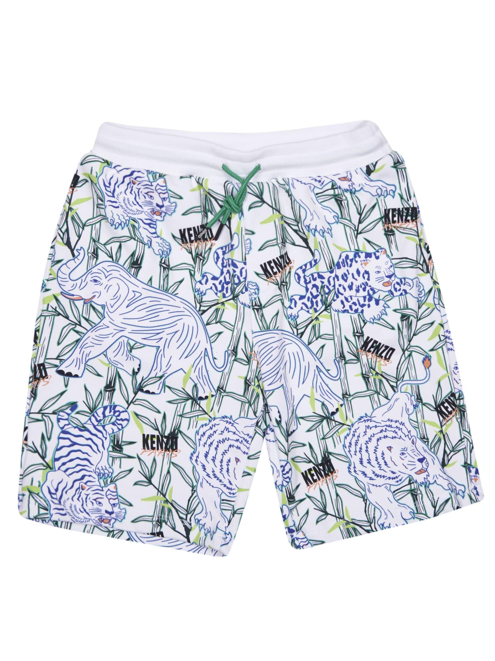Elephant & Tiger Print Shorts
