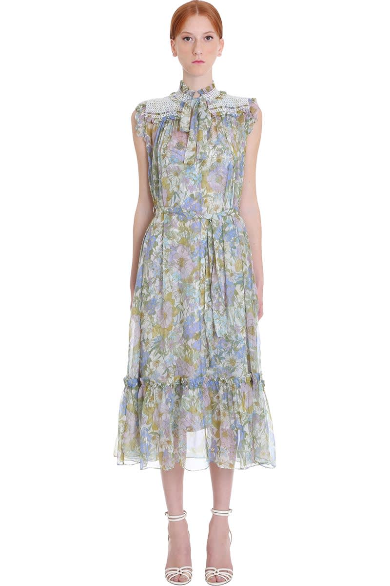 Buy Zimmermann Dress In Multicolor Silk online, shop Zimmermann with free shipping