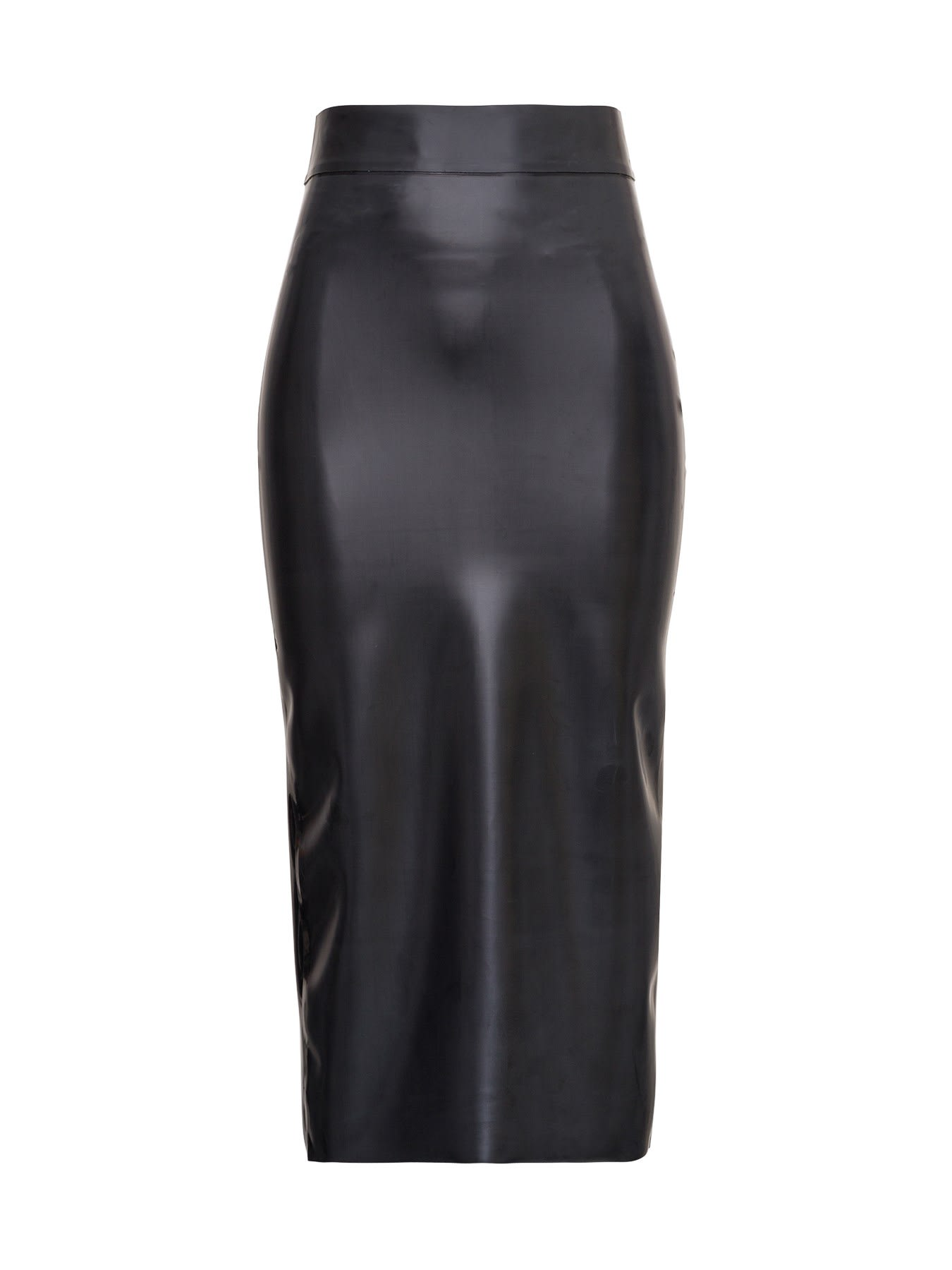 Saint Laurent LATEX LONGUETTE SKIRT
