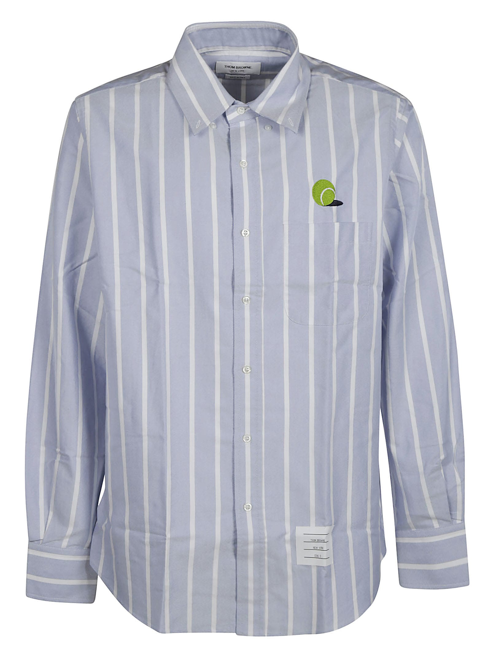 Thom Browne Straight Fit Button Down Long-sleeve Shirt