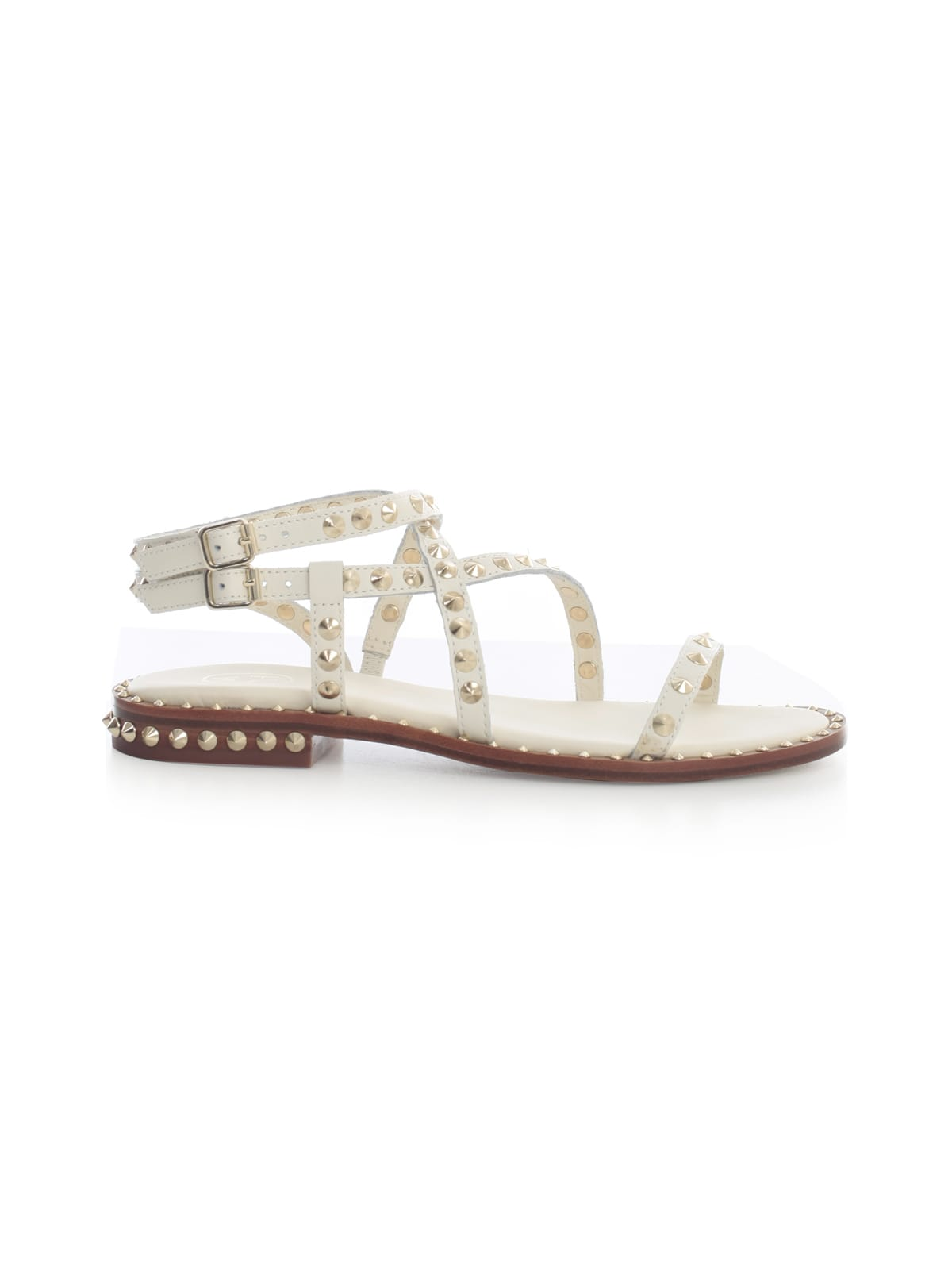 Ash Sandals SANDALS W/STUDS AND DOUBLE STRAP