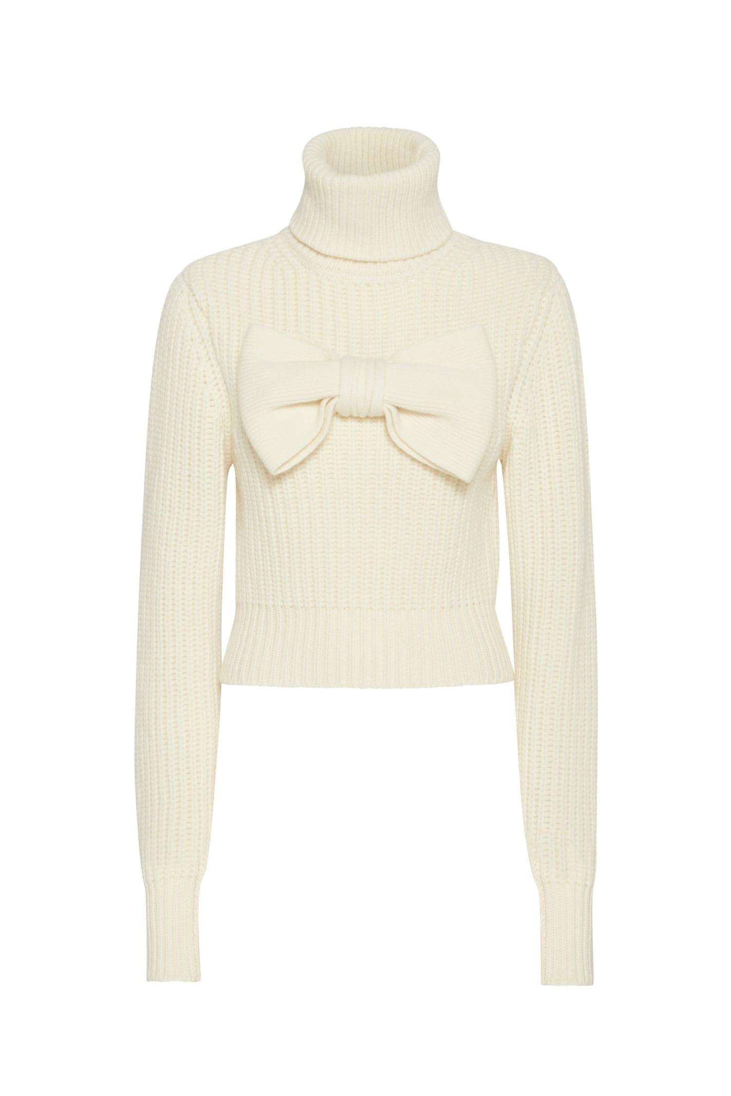 Cortina Sweather In White Wool