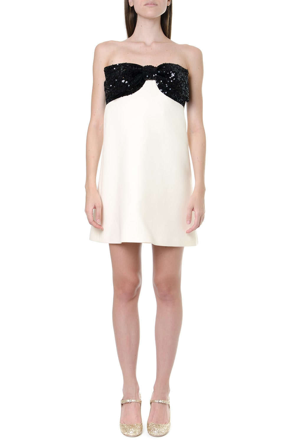 Miu Miu Wool & Silk Short Sequins Dress