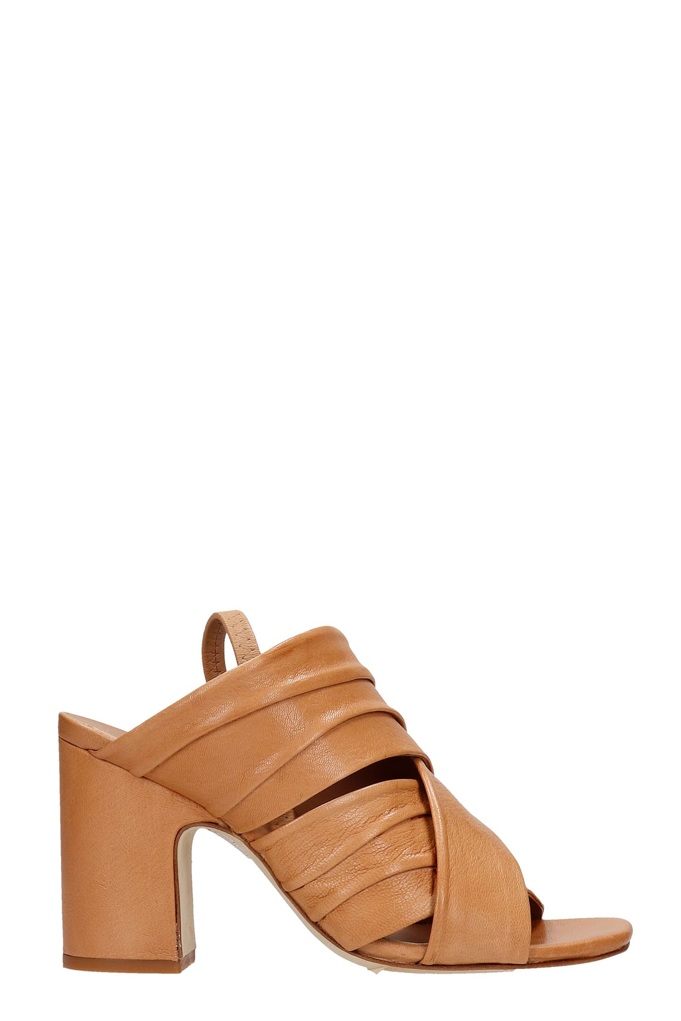 Sandals In Leather Color Leather