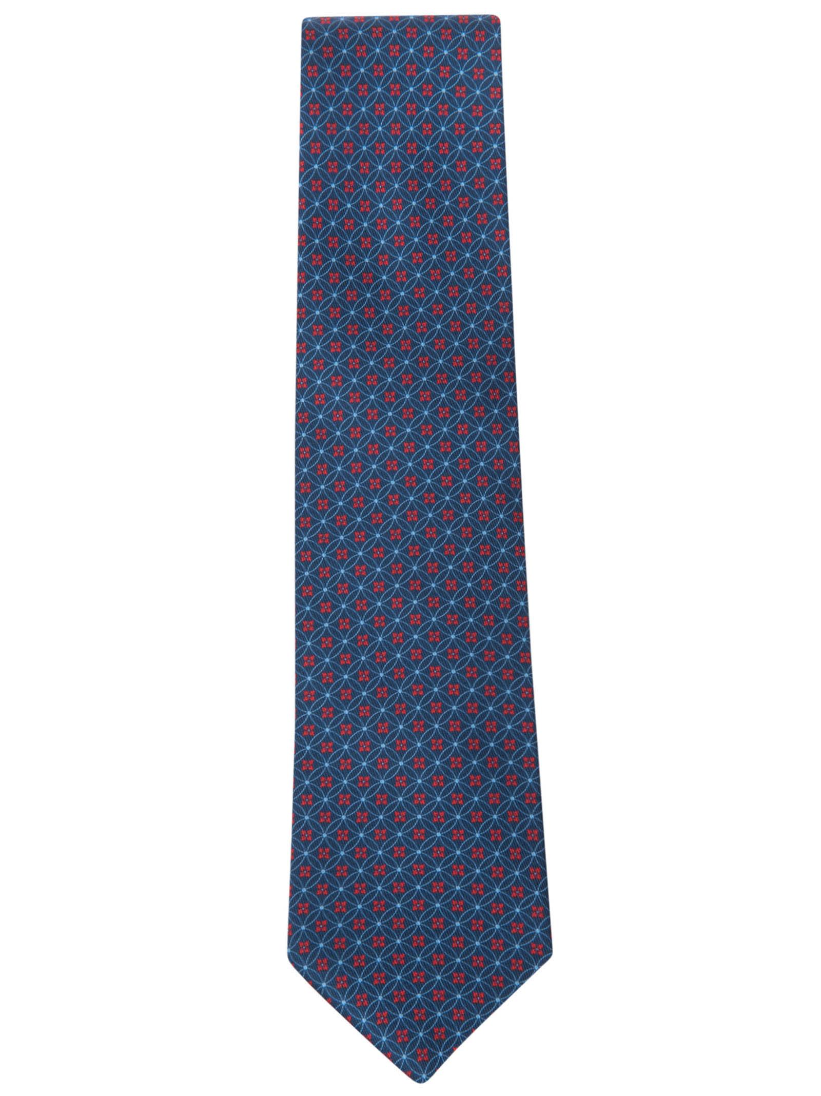 Round Motif Print Neck Tie