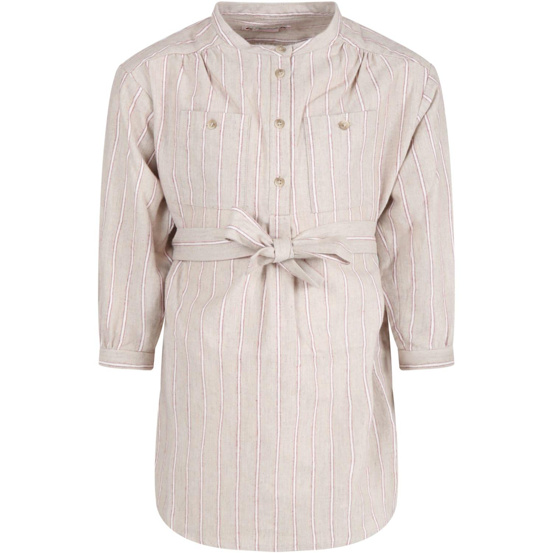 Beige Dress For Girl