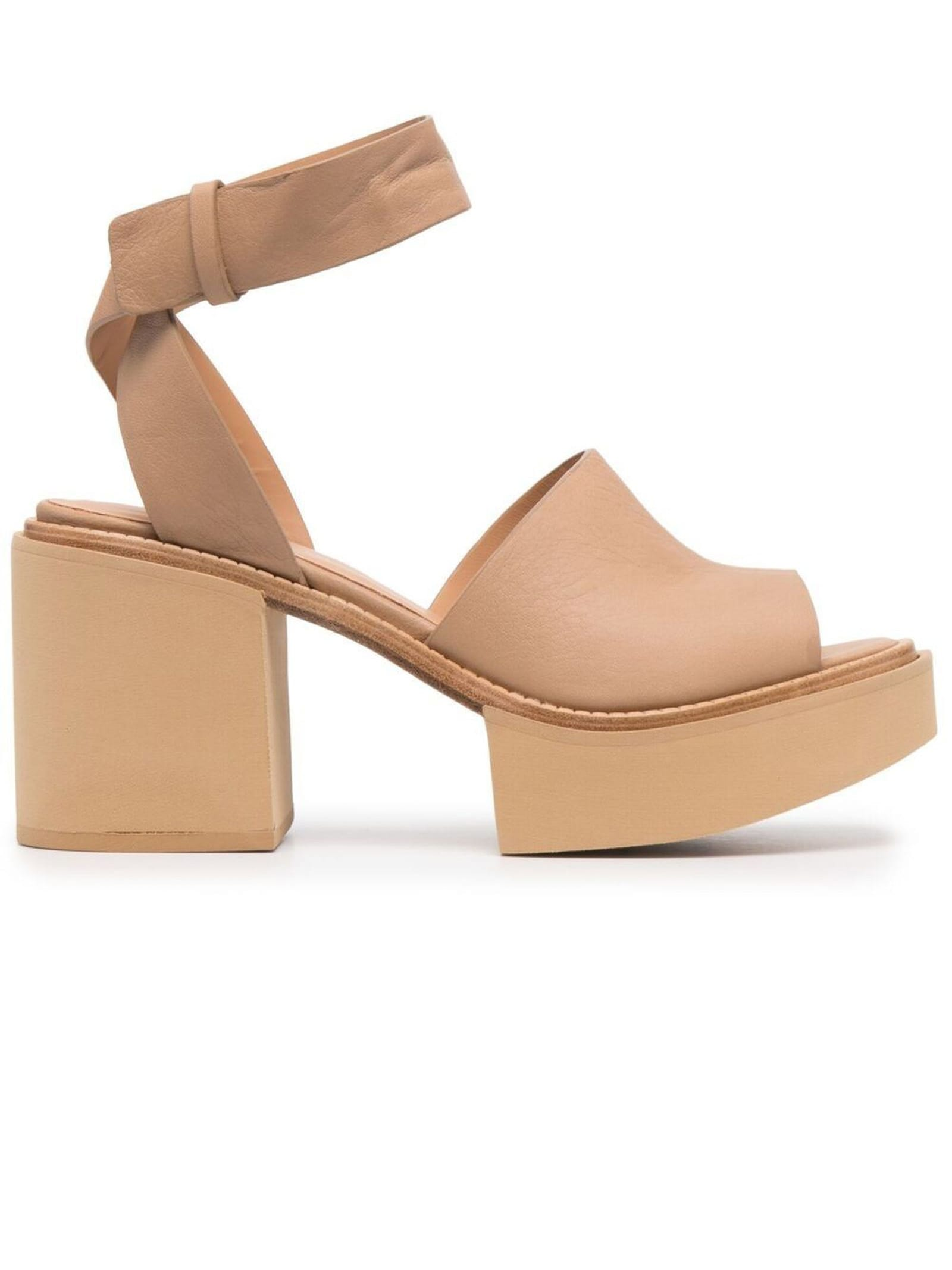 Paloma Barceló BROWN LEATHER JAMAANX SANDALS