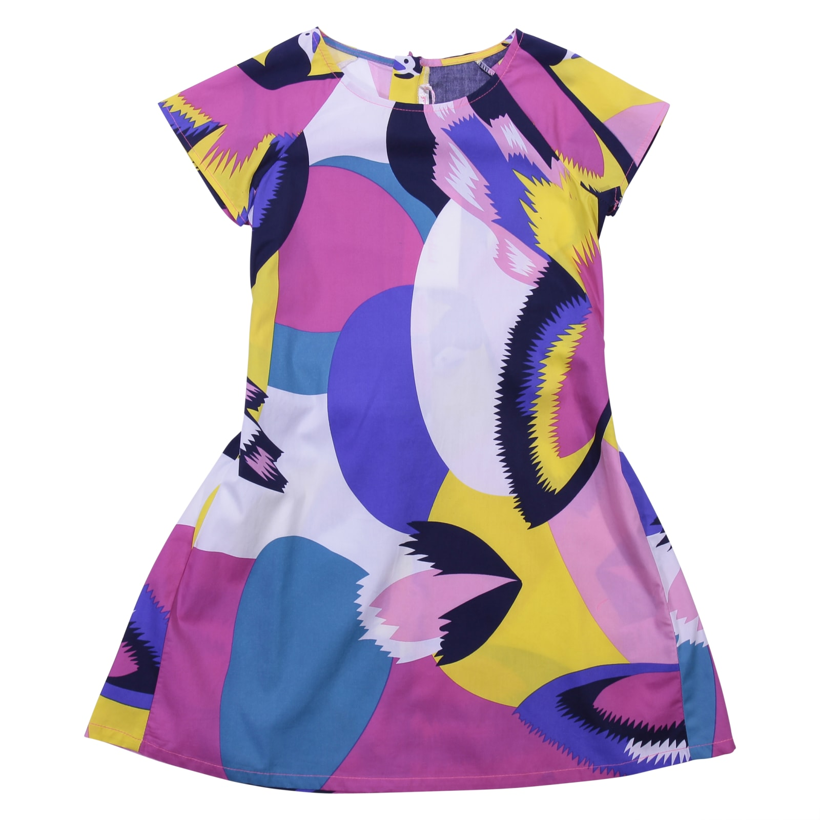 Billieblush Multicolor Print Cotton Poplin Dress