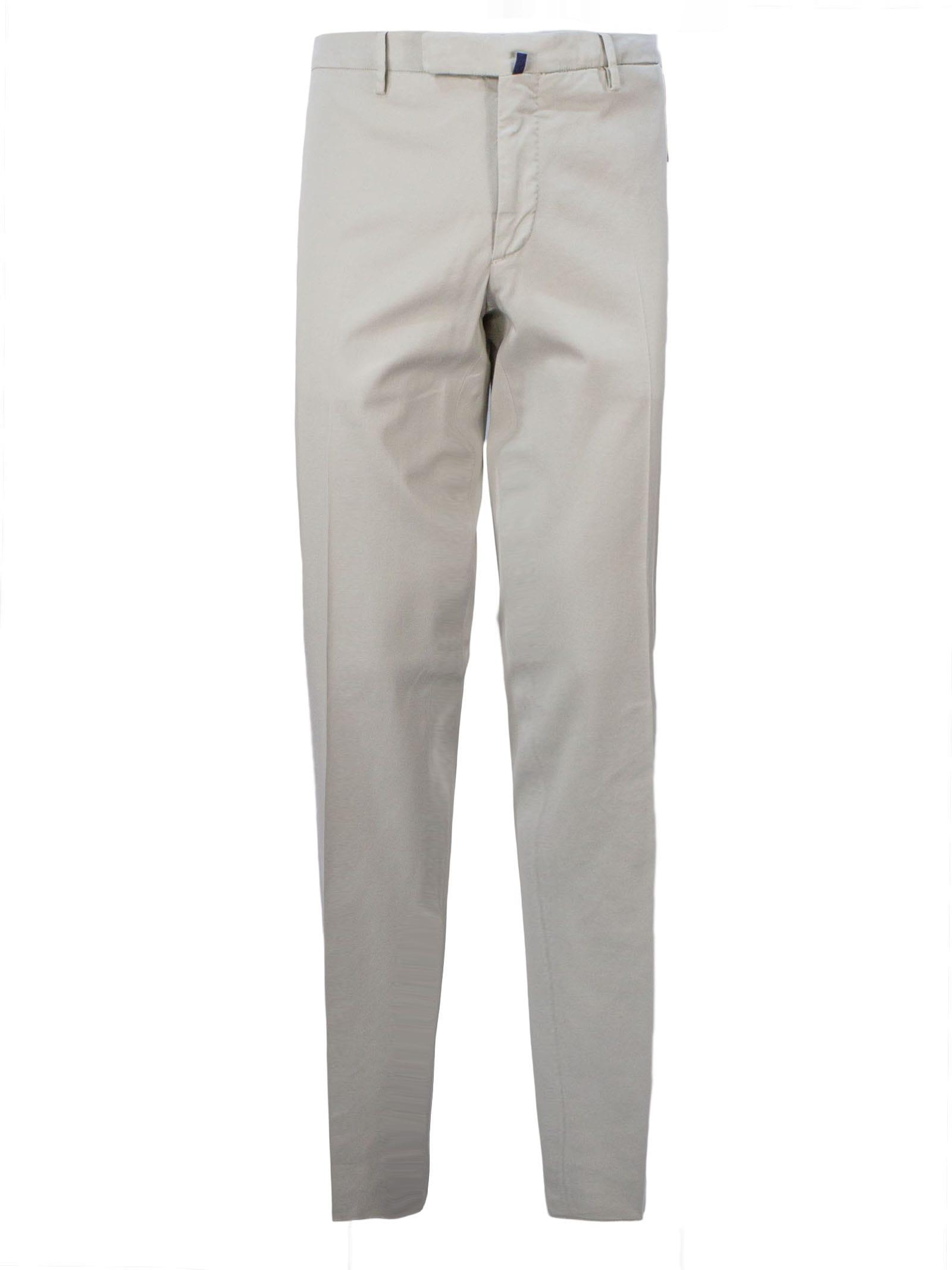 Incotex Beige Cotton Blend Chino Trouser
