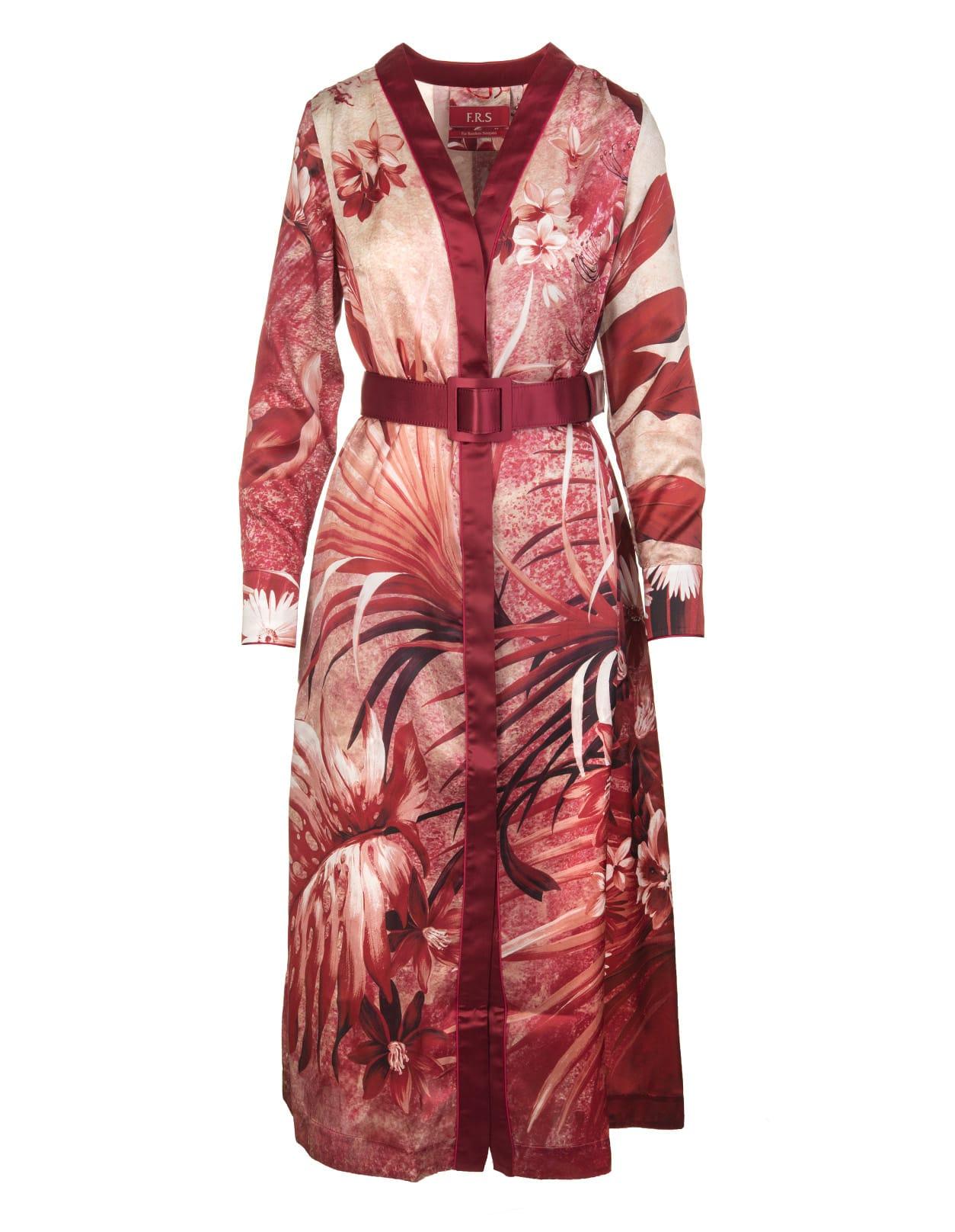 Red Clizio Midi Dress