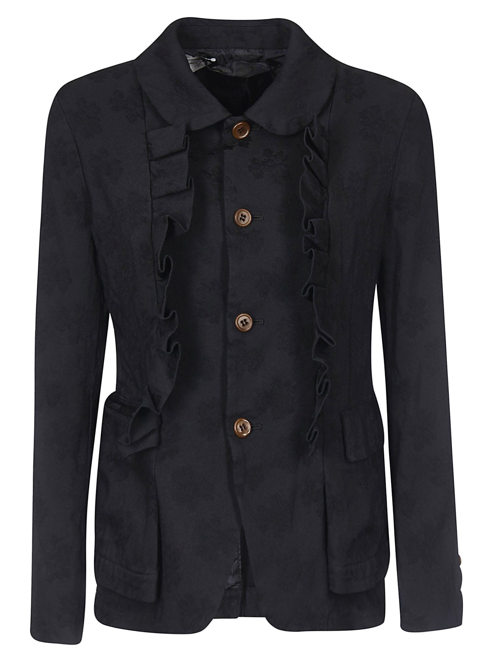 Photo of  Comme des Garçons Ruffle Detailed Jacket- shop Comme des Garçons jackets online sales
