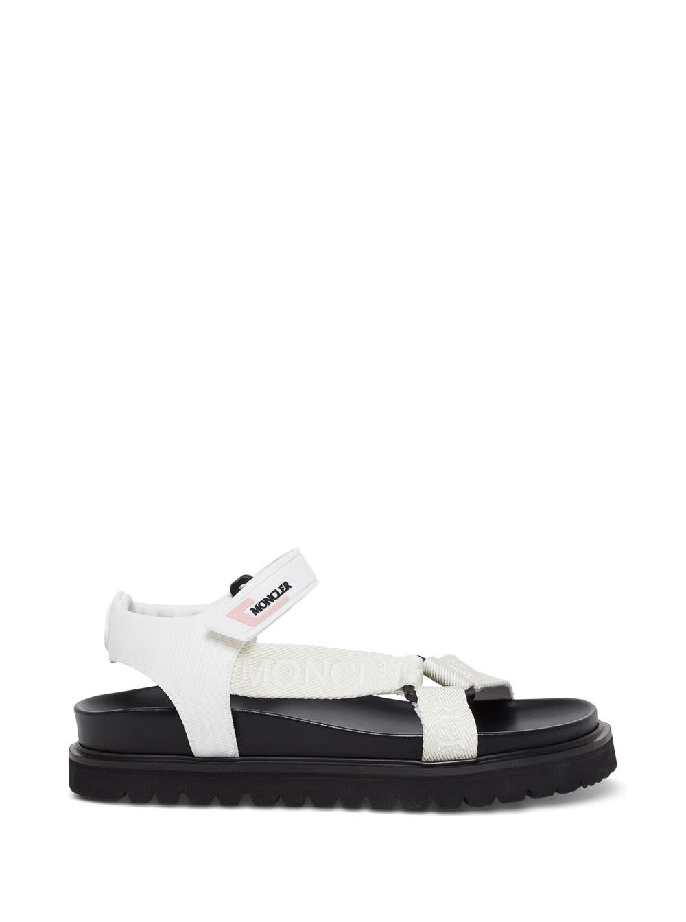 Moncler FLAVIA WHITE SANDALS WITH LOGO