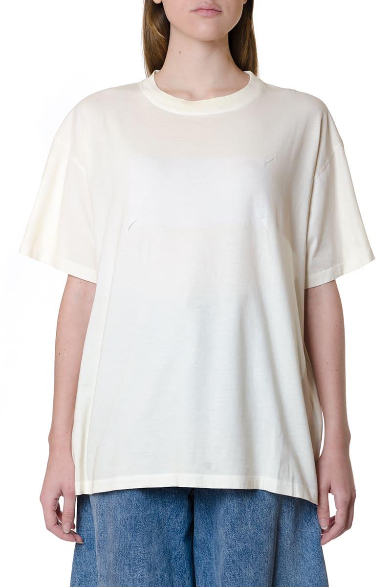 Maison Margiela White Cotton Relax Fit T-shirt
