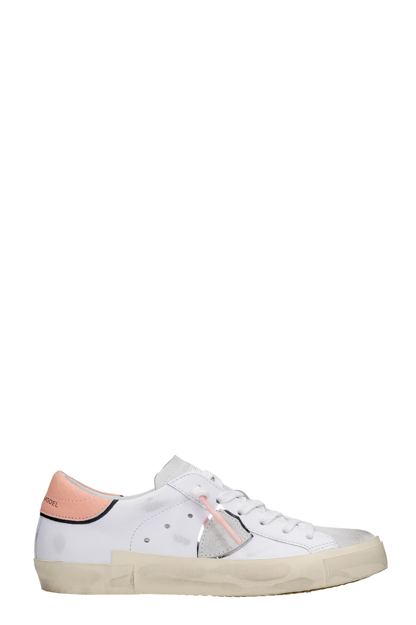 Philippe Model Low tops PRSX SNEAKERS IN WHITE SUEDE AND LEATHER