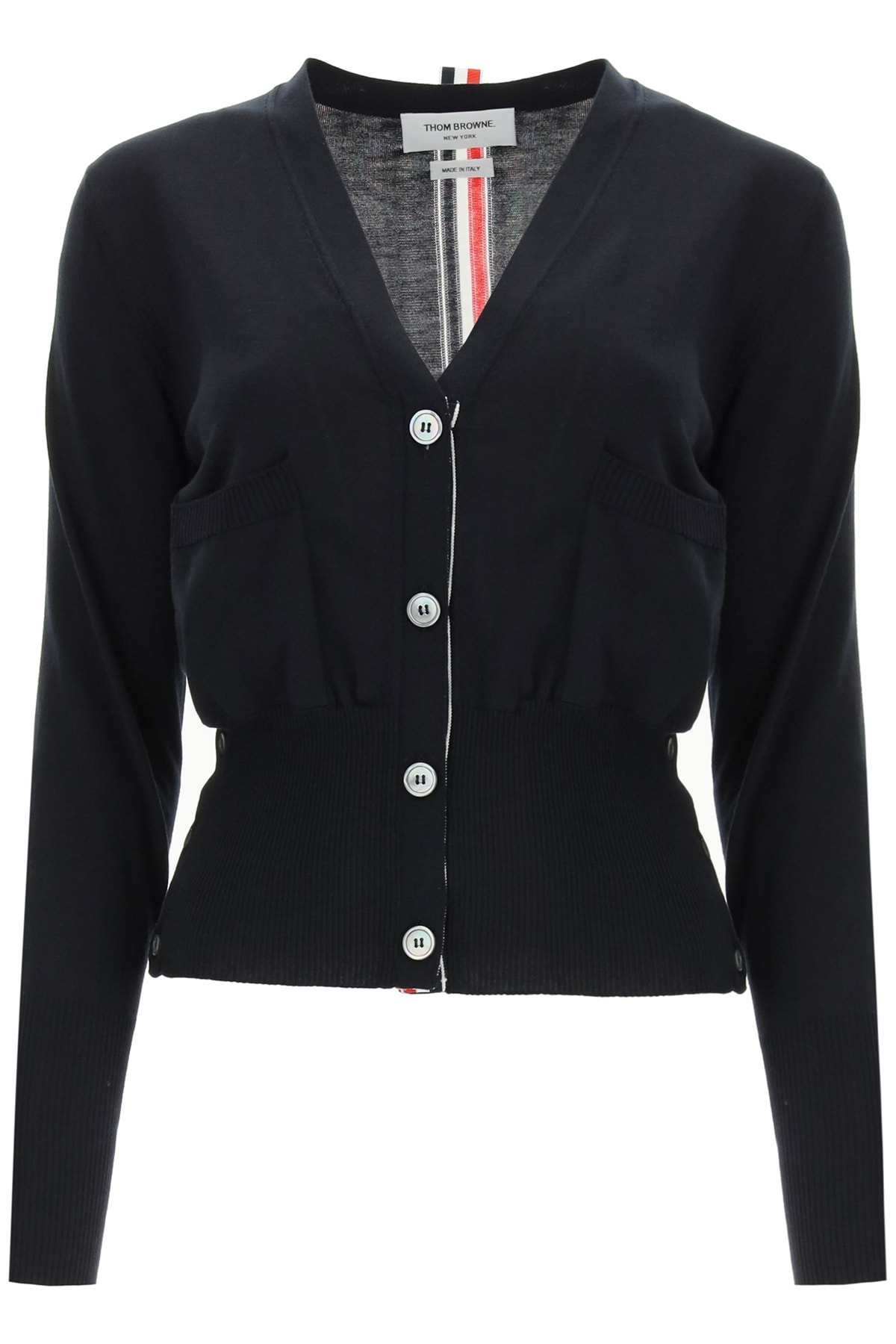Thom Browne Clothing SILK AND COTTON CARDIGAN