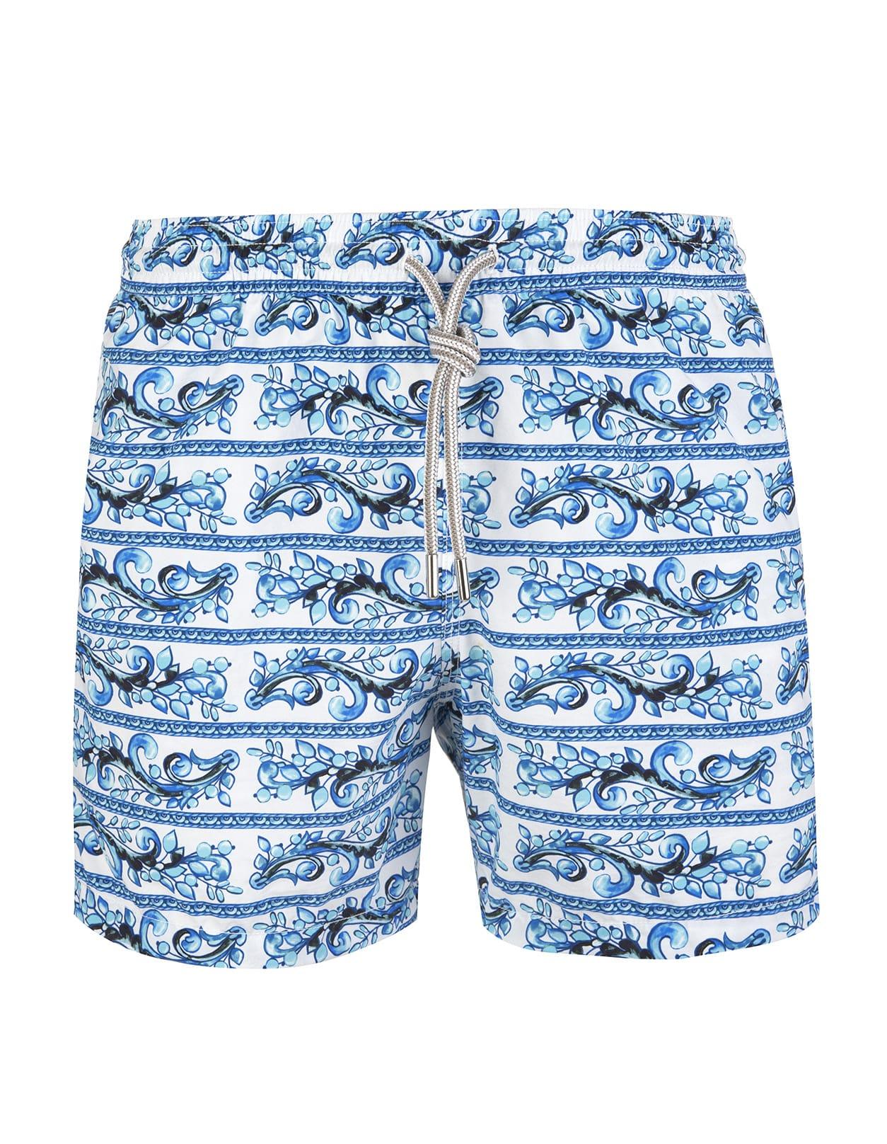Blue And Light Blue Vietri Sul Mare Swimsuit