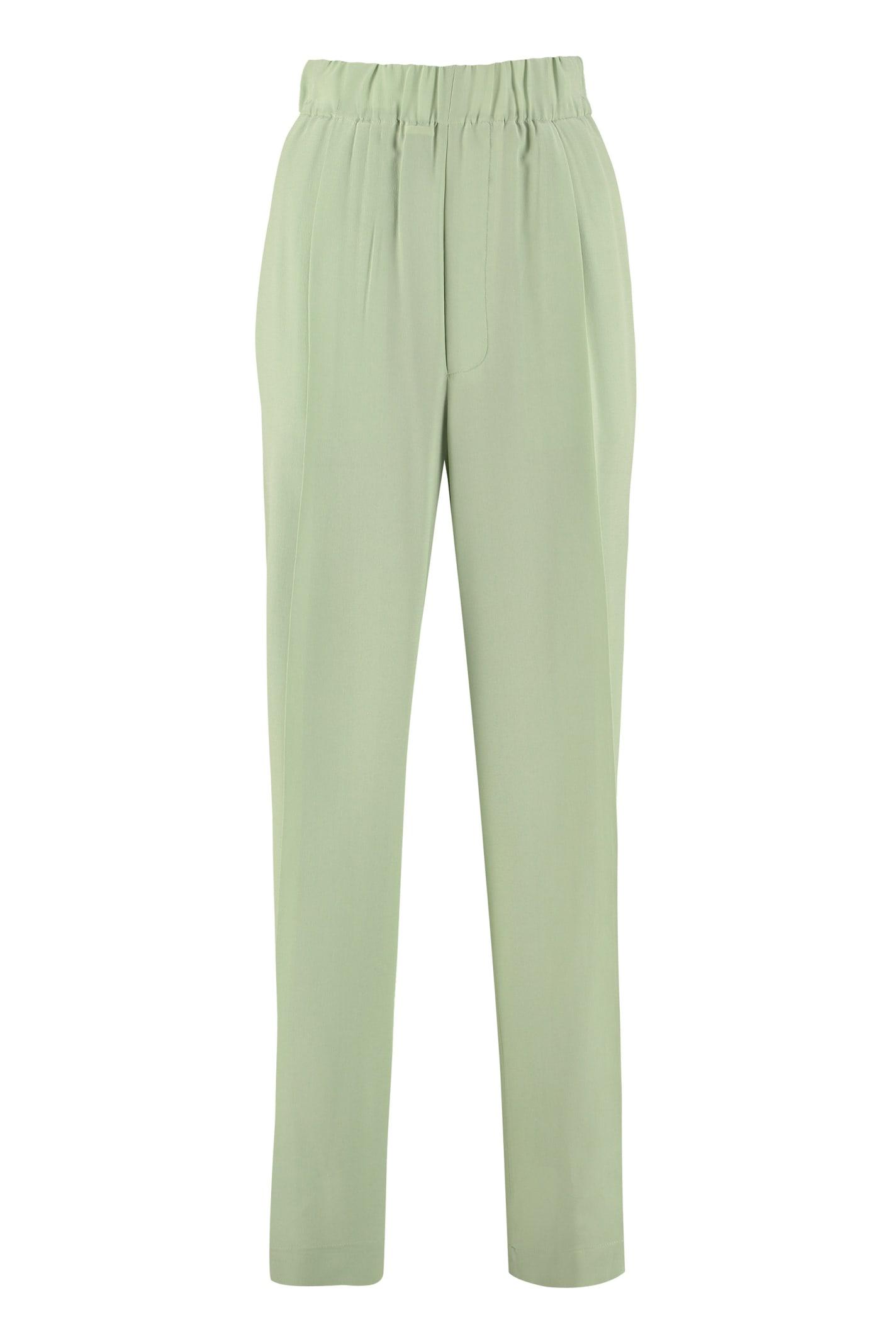 Jejia Silk Wide Leg Trousers