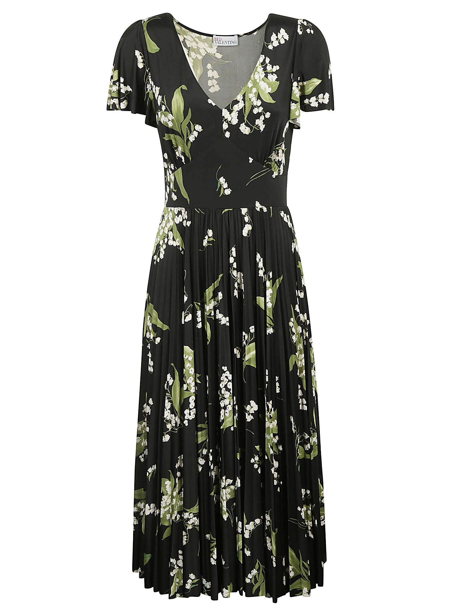 Buy RED Valentino Printed Long Dress online, shop RED Valentino with free shipping