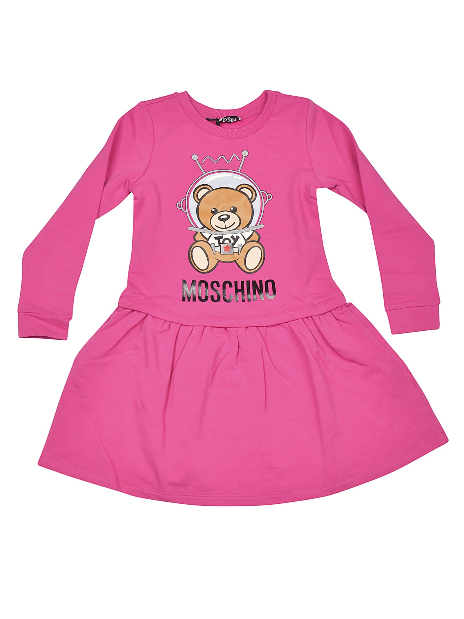 Moschino Teddy Space Long Sleeve Dress