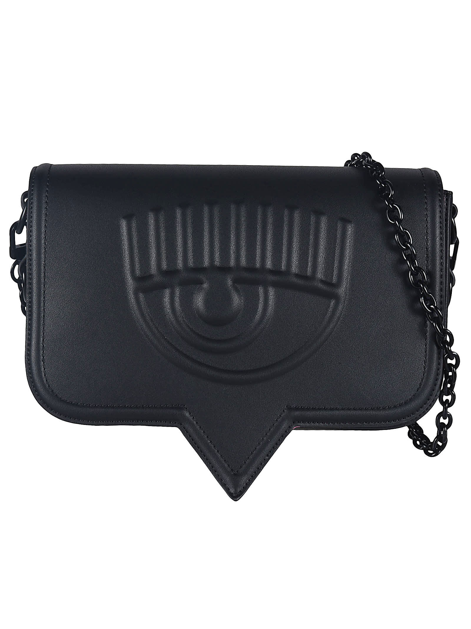 Chiara Ferragni EMBOSSED EYE SHOULDER BAG