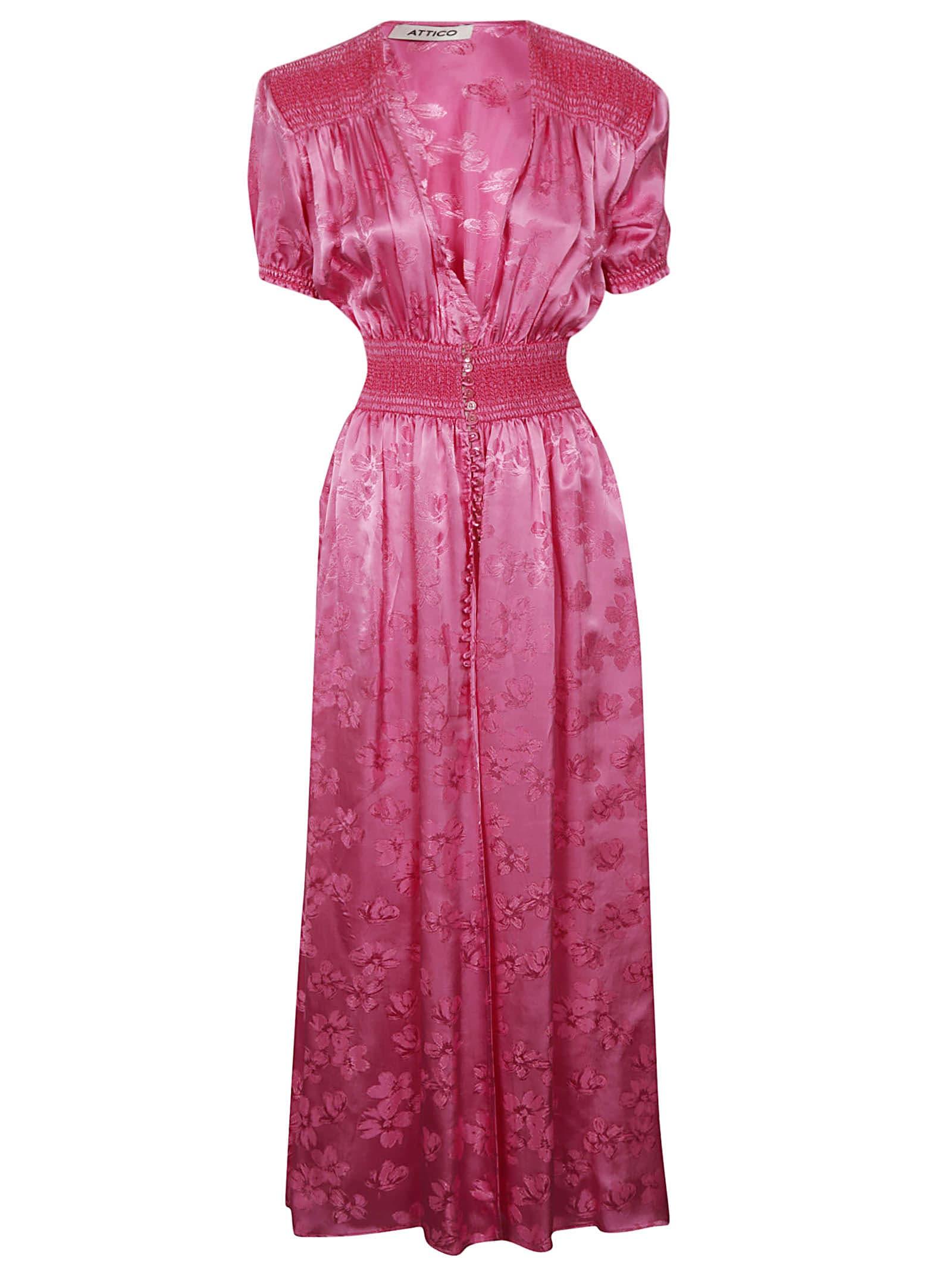 Buy The Attico V-neck Maxi Dress online, shop The Attico with free shipping