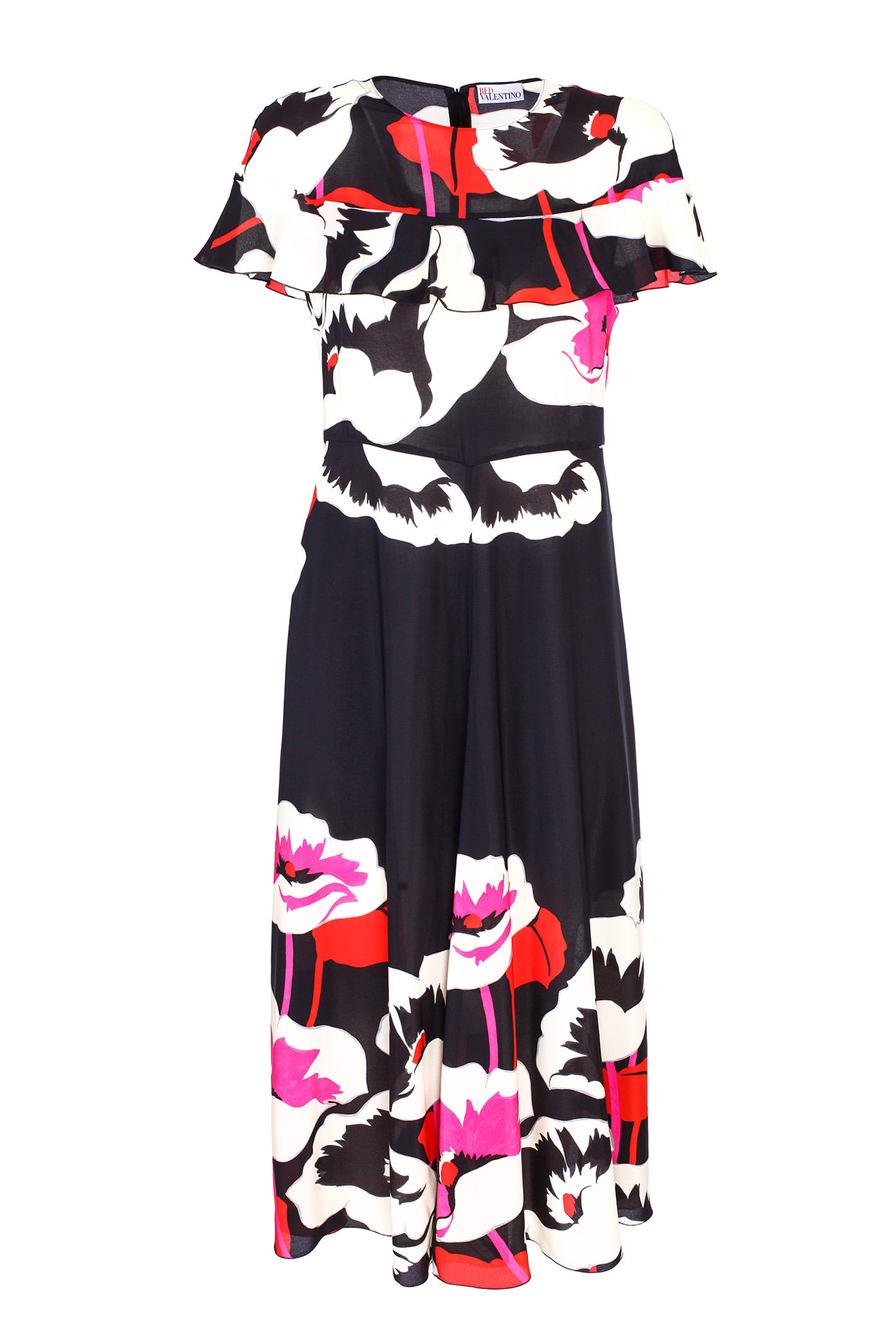 Red Valentino floral Longuette dress