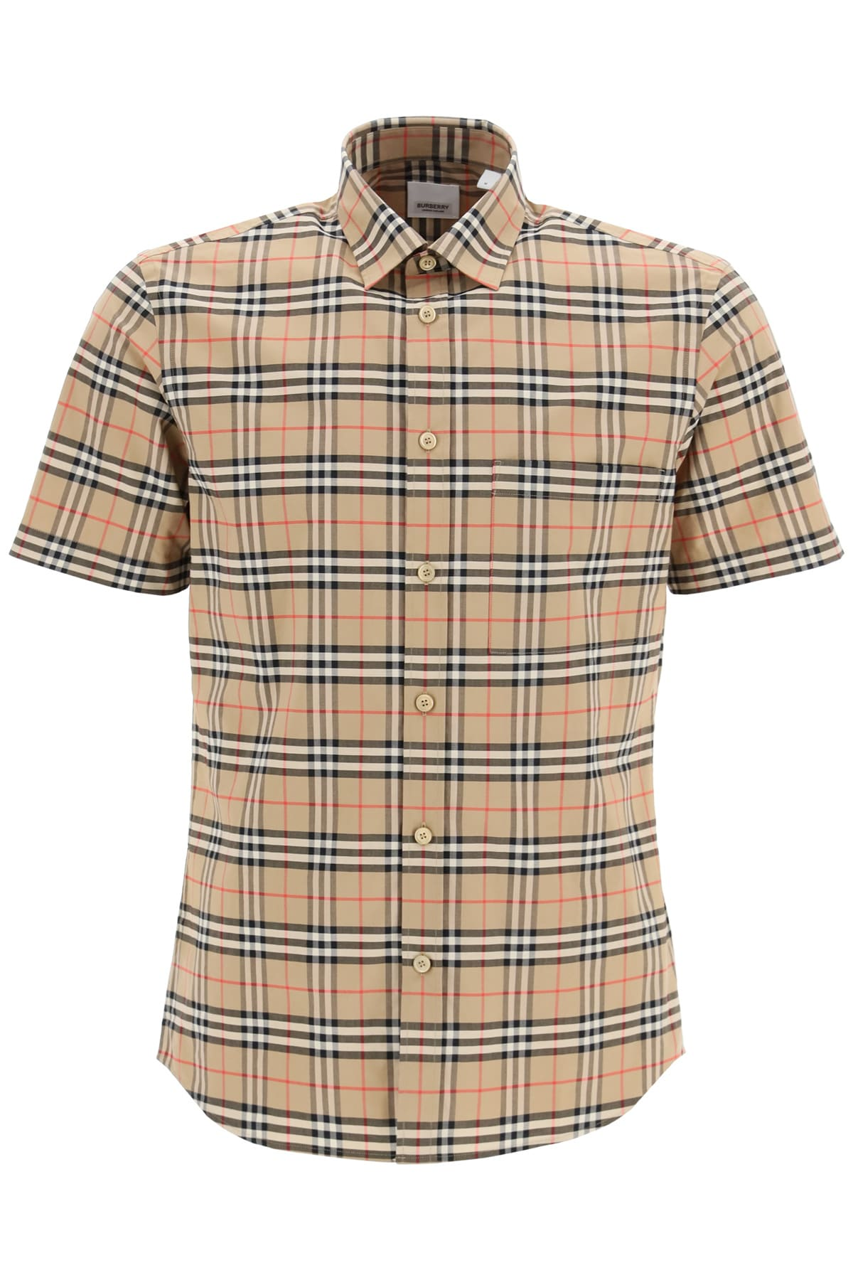 Burberry SIMPSON SHIRT WITH TARTAN PATTERN