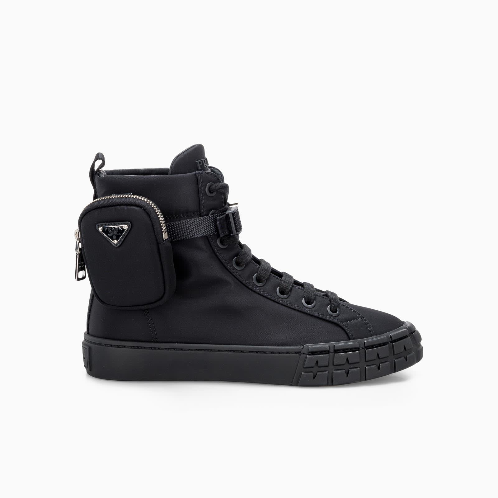 Prada WHEEL HIGH-TOP SNEAKERS