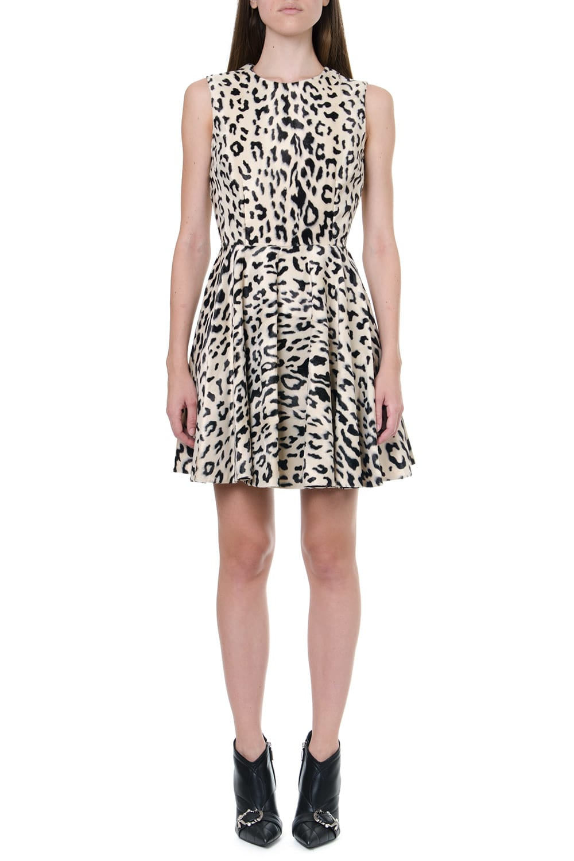 Dolce & Gabbana Short Leopard-print Faux Fur Dress