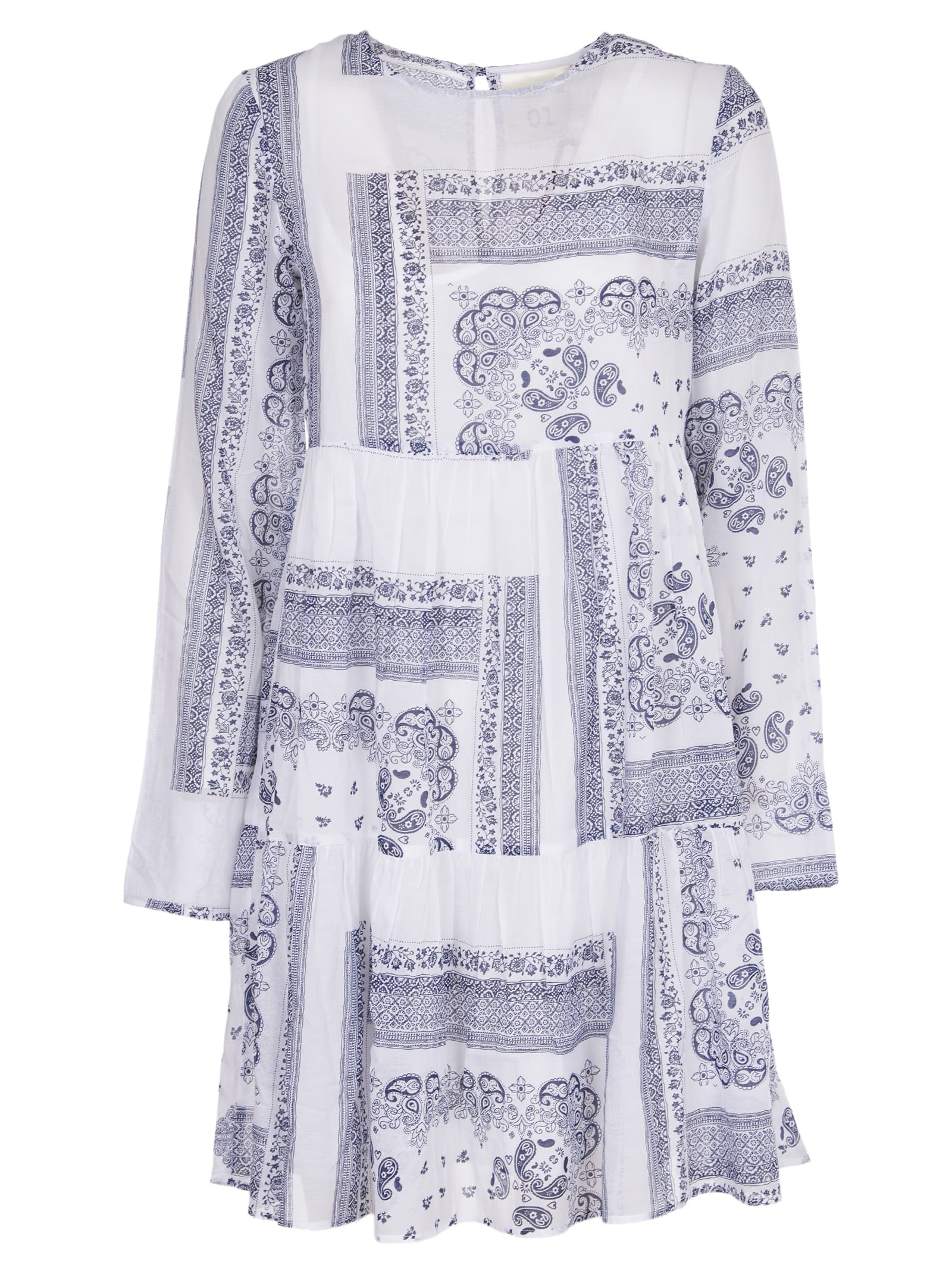 Buy White And Blue Dress online, shop SEMICOUTURE with free shipping