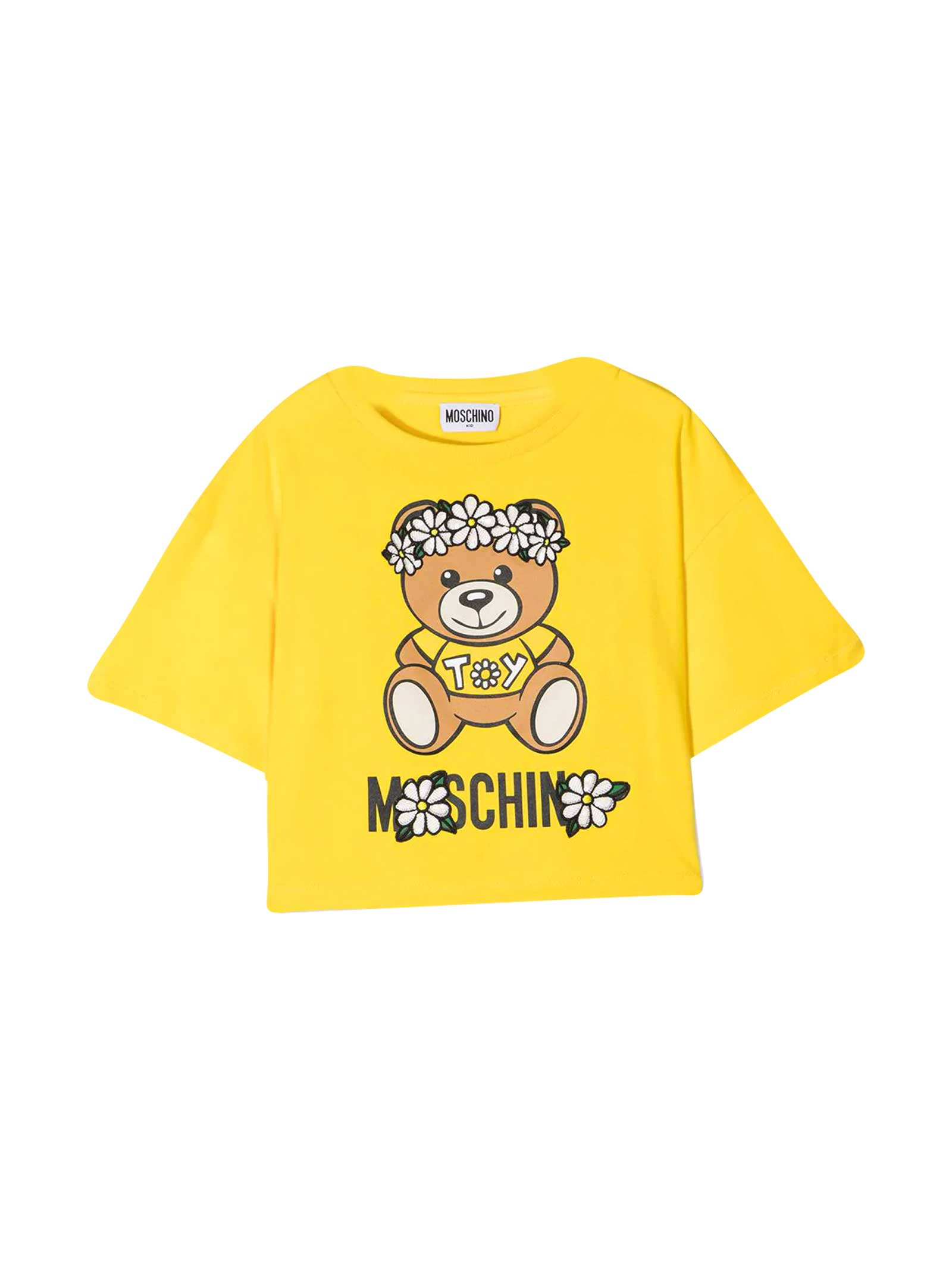 Moschino Yellow Teen T-shirt With Toy Print