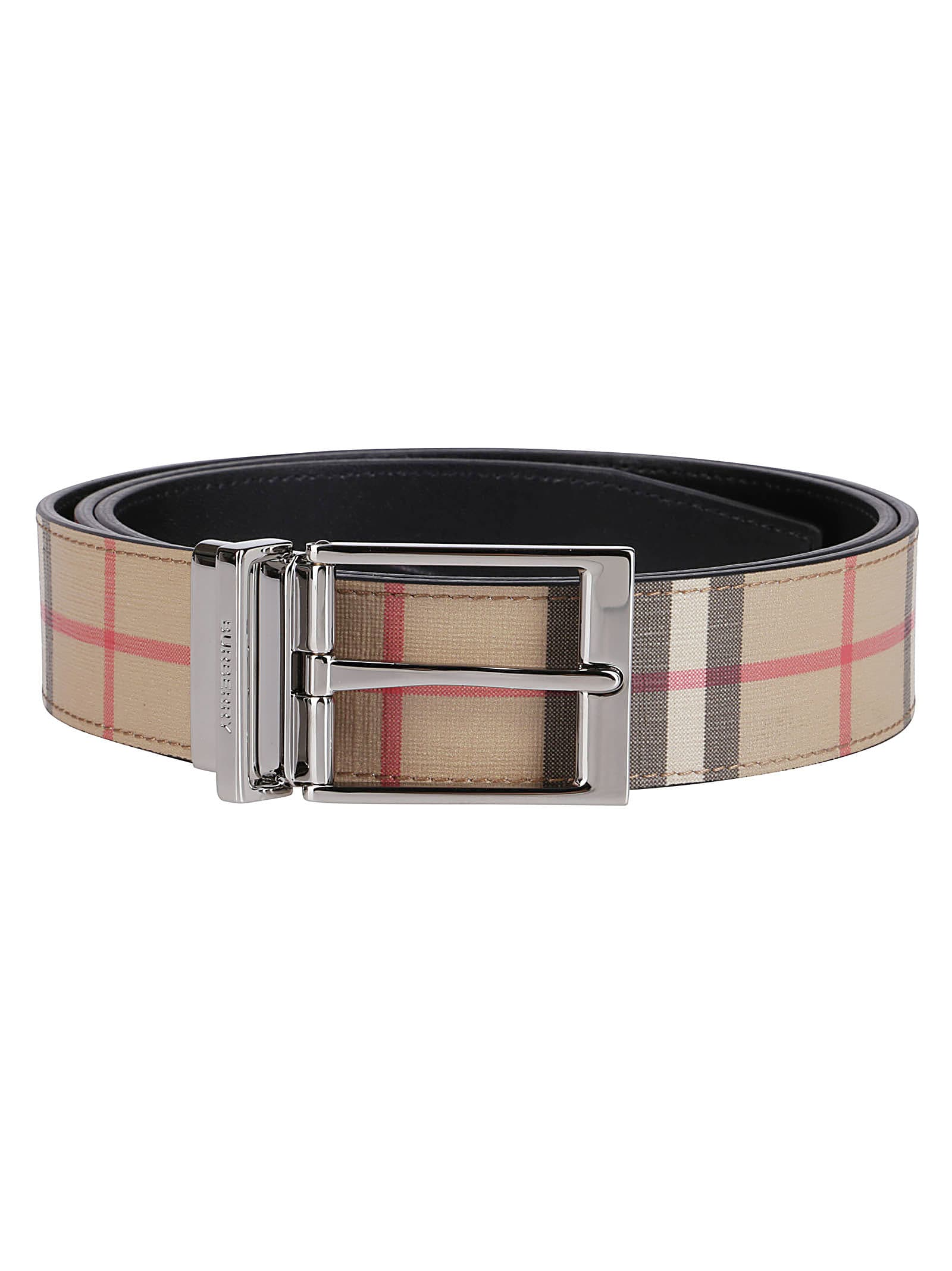 Burberry Belts CHECKED BUCKLE BELT