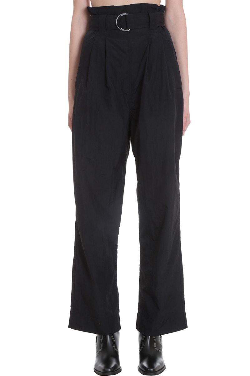 Ganni Pants In Black Polyester